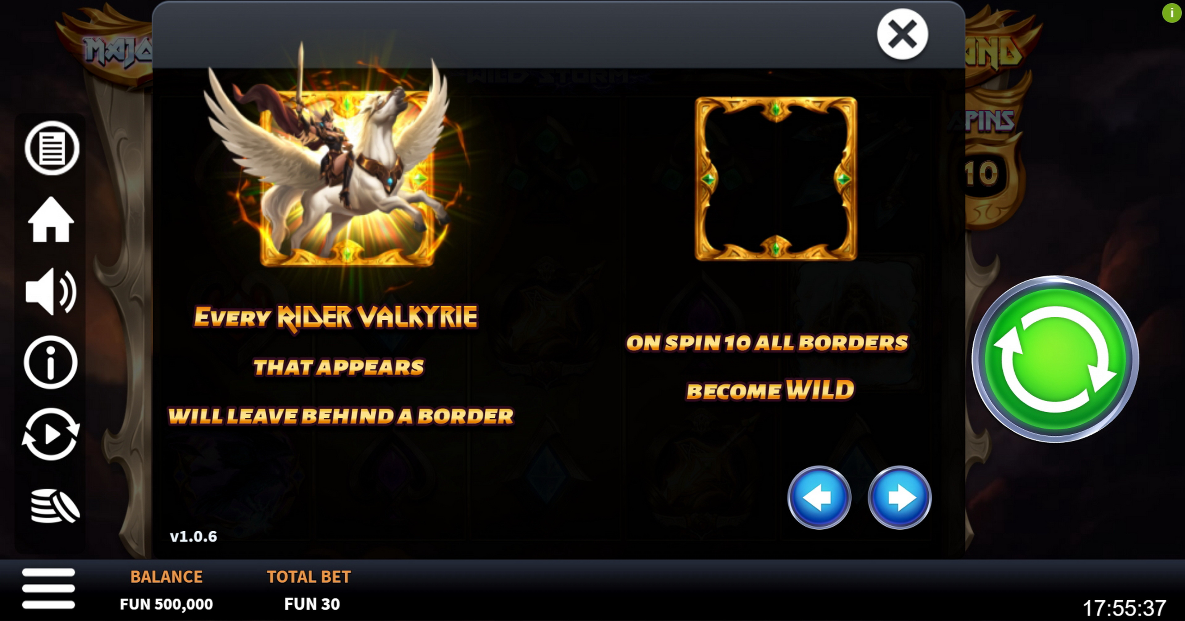 Info of Valkyrie Wild Storm Slot Game by Boomerang Studios