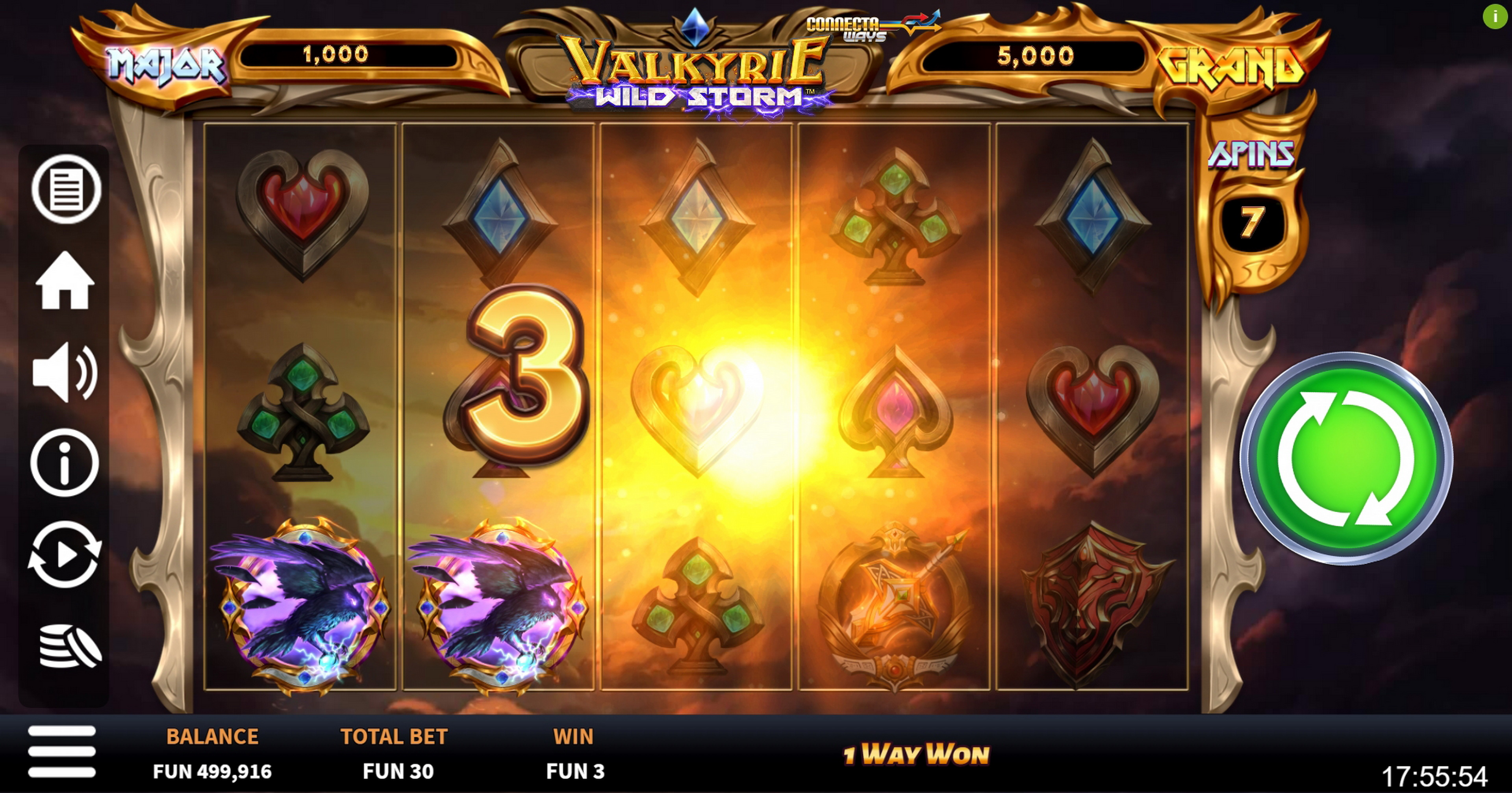 Win Money in Valkyrie Wild Storm Free Slot Game by Boomerang Studios