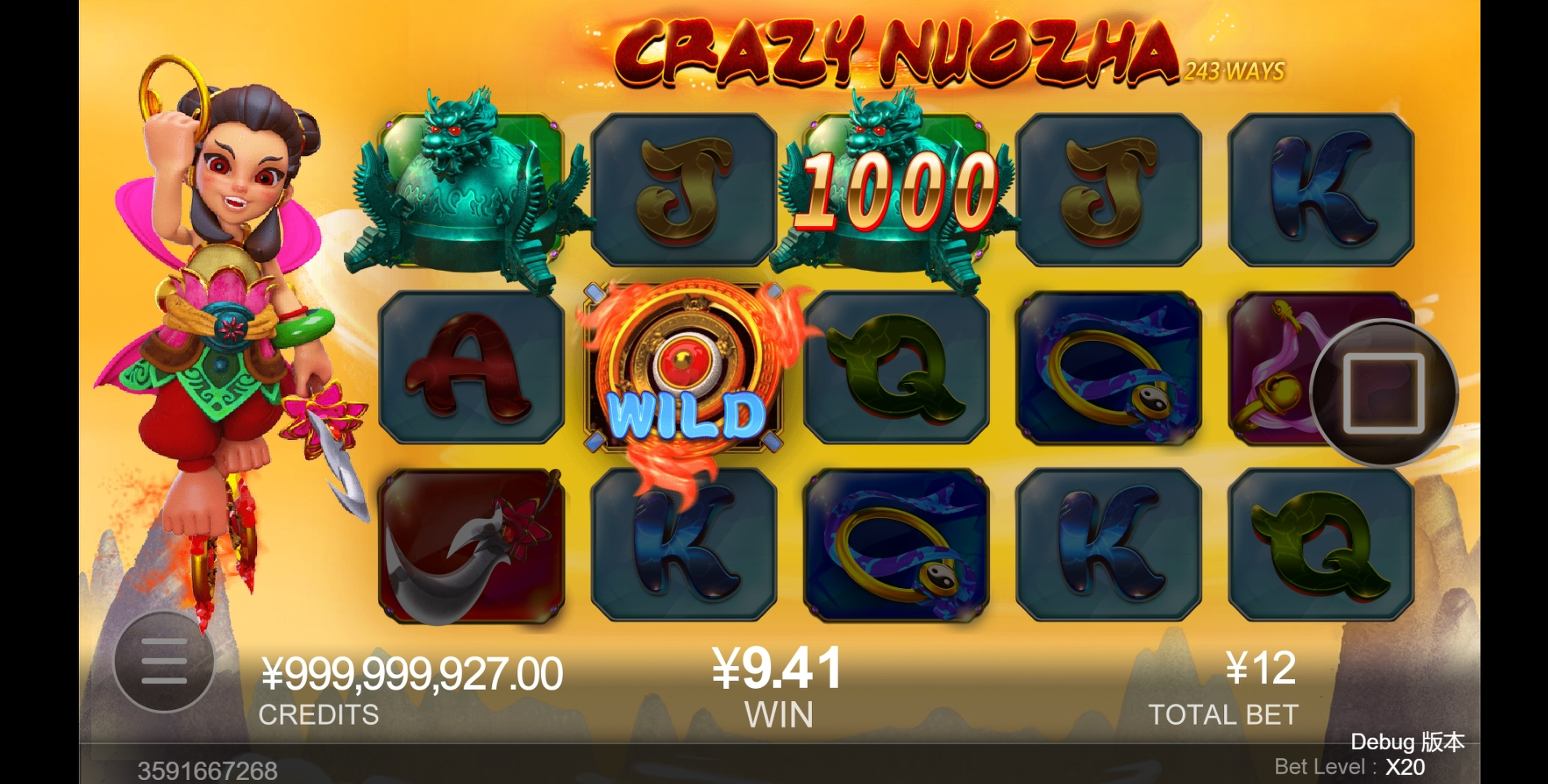 Win Money in Crazy Nuozha Free Slot Game by CQ9Gaming