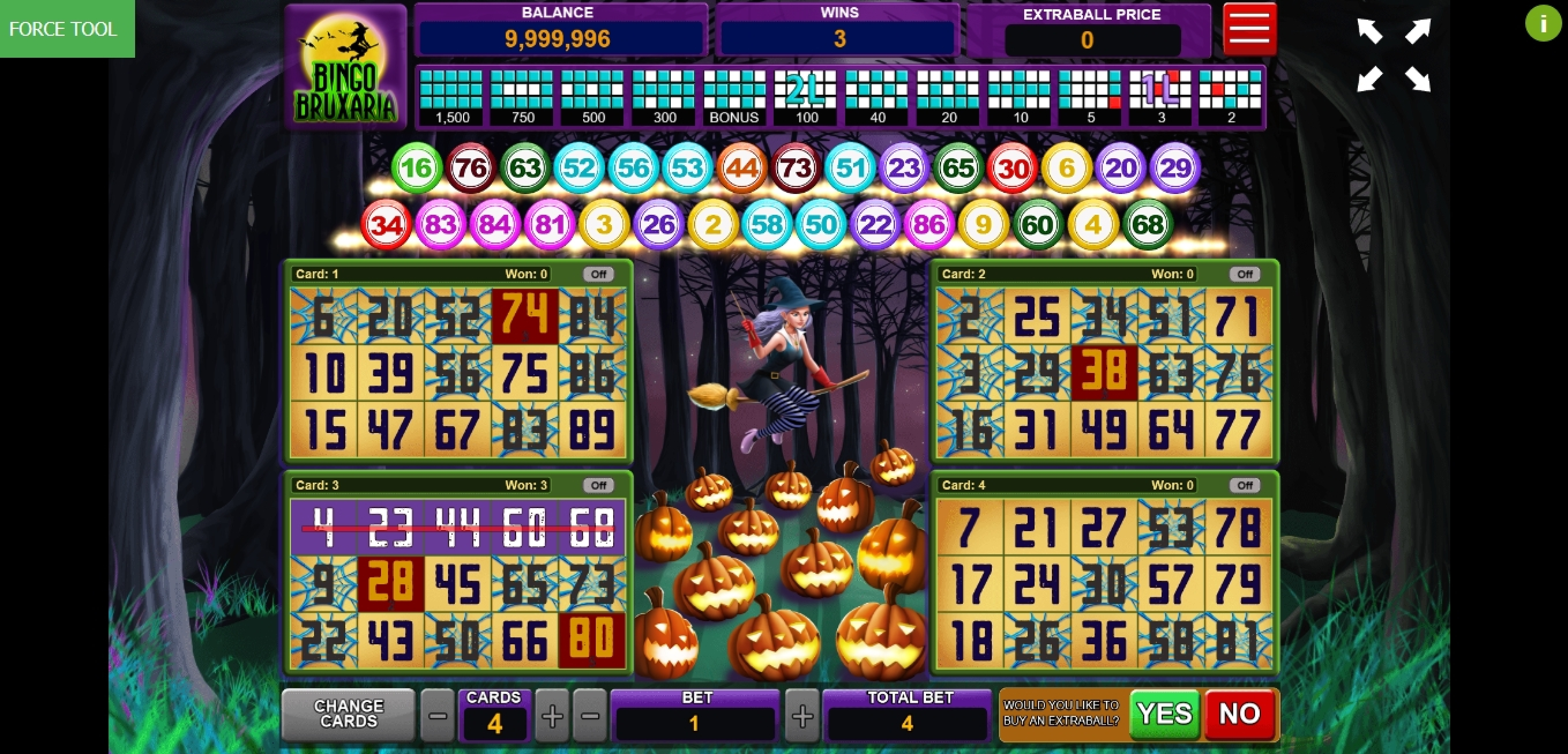 Win Money in Bingo Bruxaria Free Slot Game by Caleta Gaming