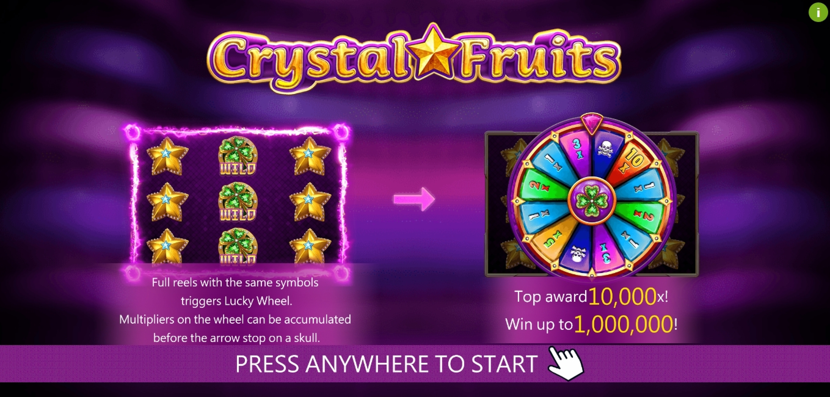 Play Crystal Fruits (Dragoon Soft) Free Casino Slot Game by Dragoon Soft