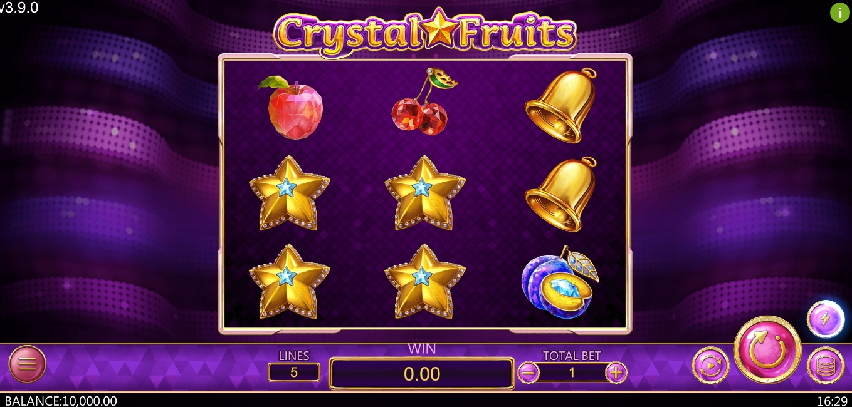 Reels in Crystal Fruits (Dragoon Soft) Slot Game by Dragoon Soft