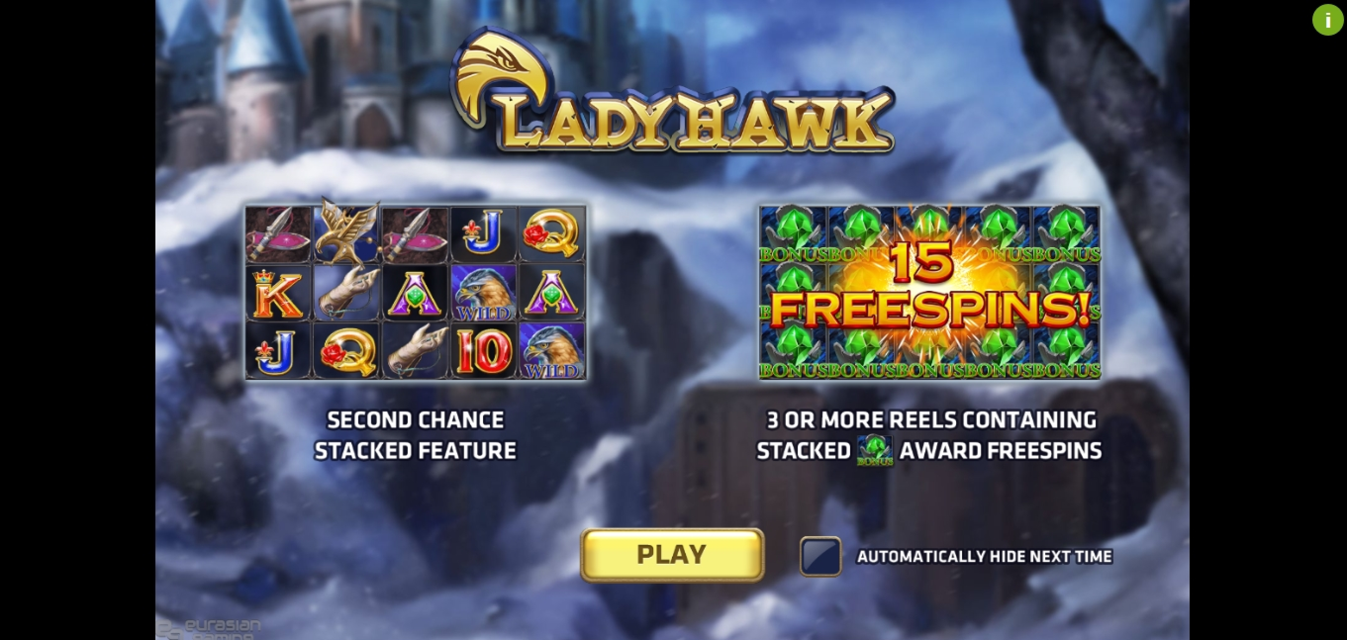Play Lady Hawk Free Casino Slot Game by EAgaming