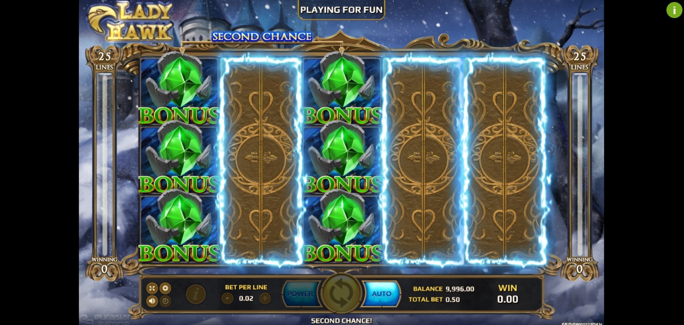 Win Money in Lady Hawk Free Slot Game by EAgaming