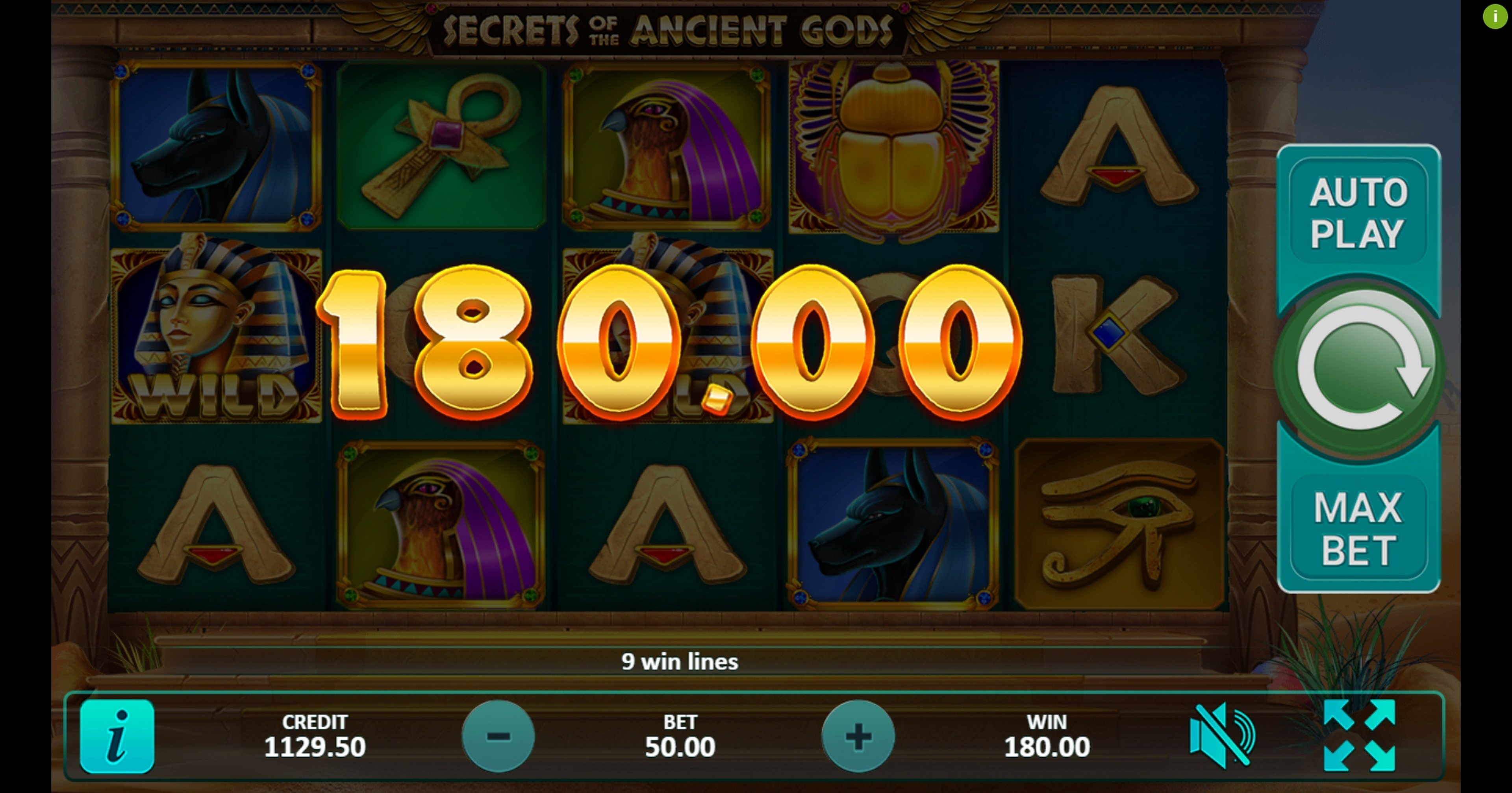 Win Money in Secrets of the Ancient Gods Free Slot Game by Gamefish Global