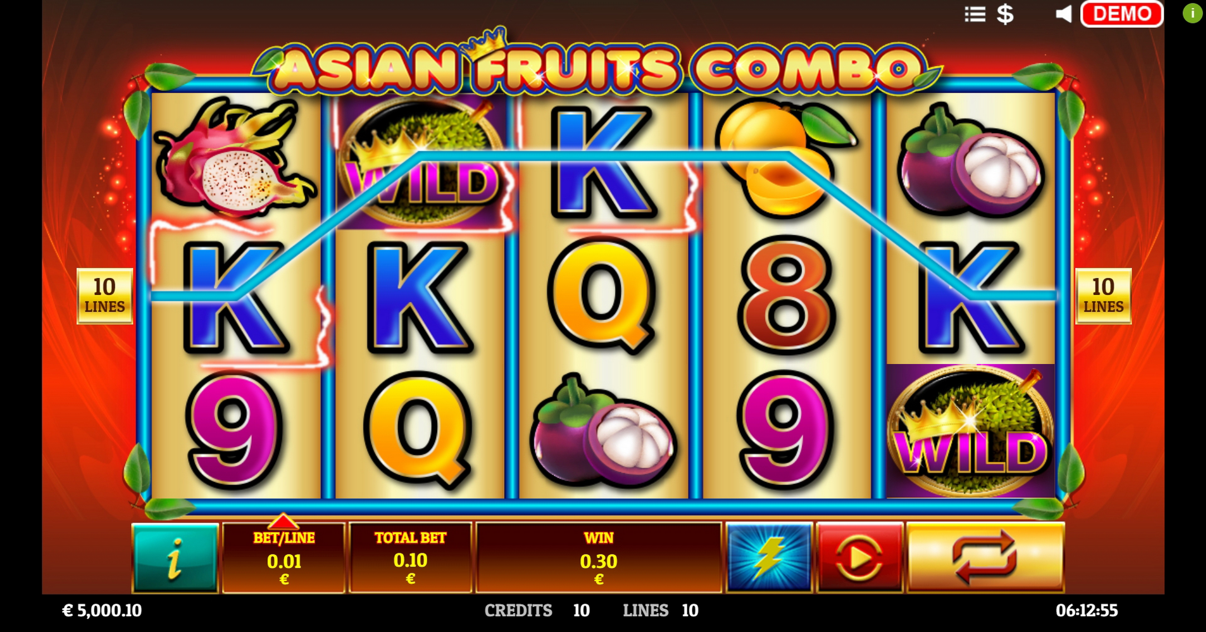 Win Money in Asian Fruit Combo Free Slot Game by Givme Games