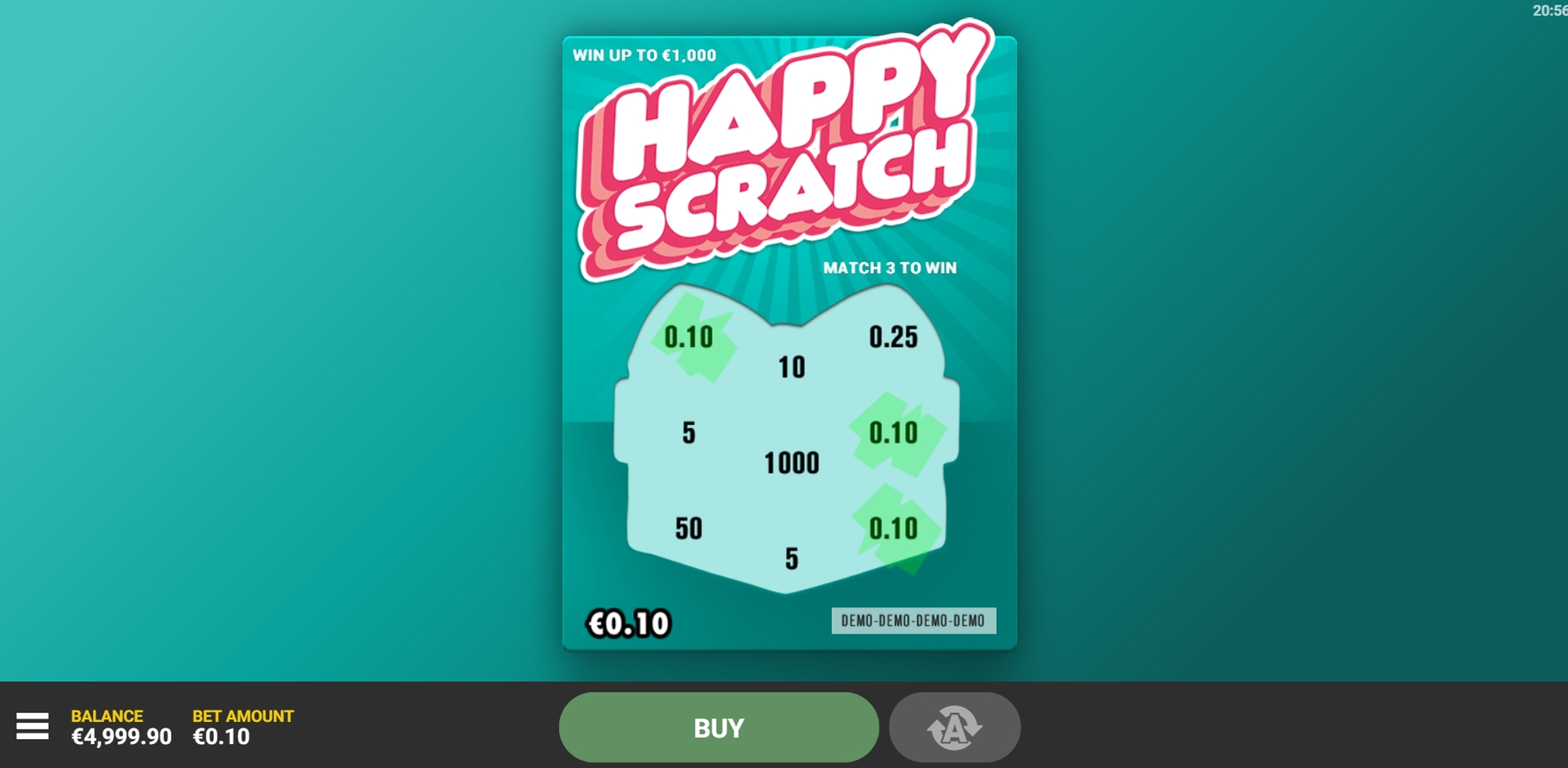 Win Money in Happy Scratch Free Slot Game by Hacksaw Gaming