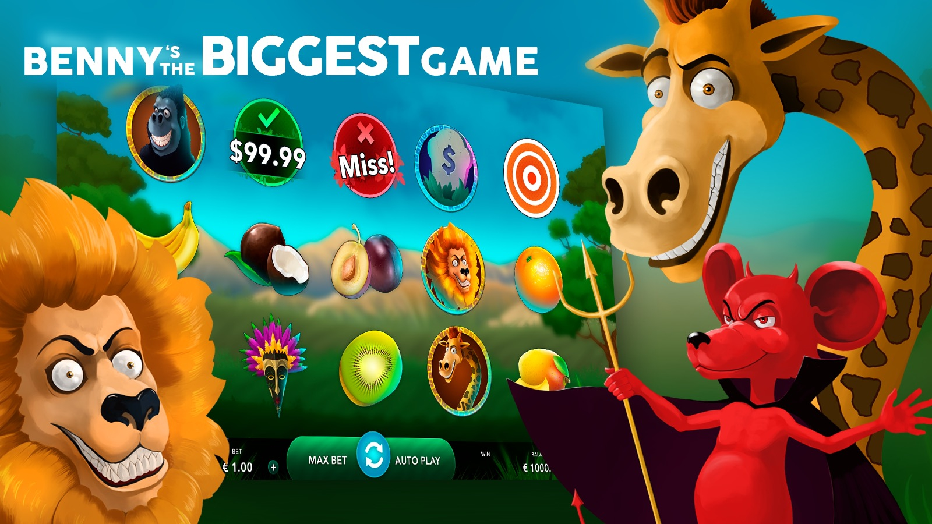 The Benny's the Biggest Game Online Slot Demo Game by Mascot Gaming