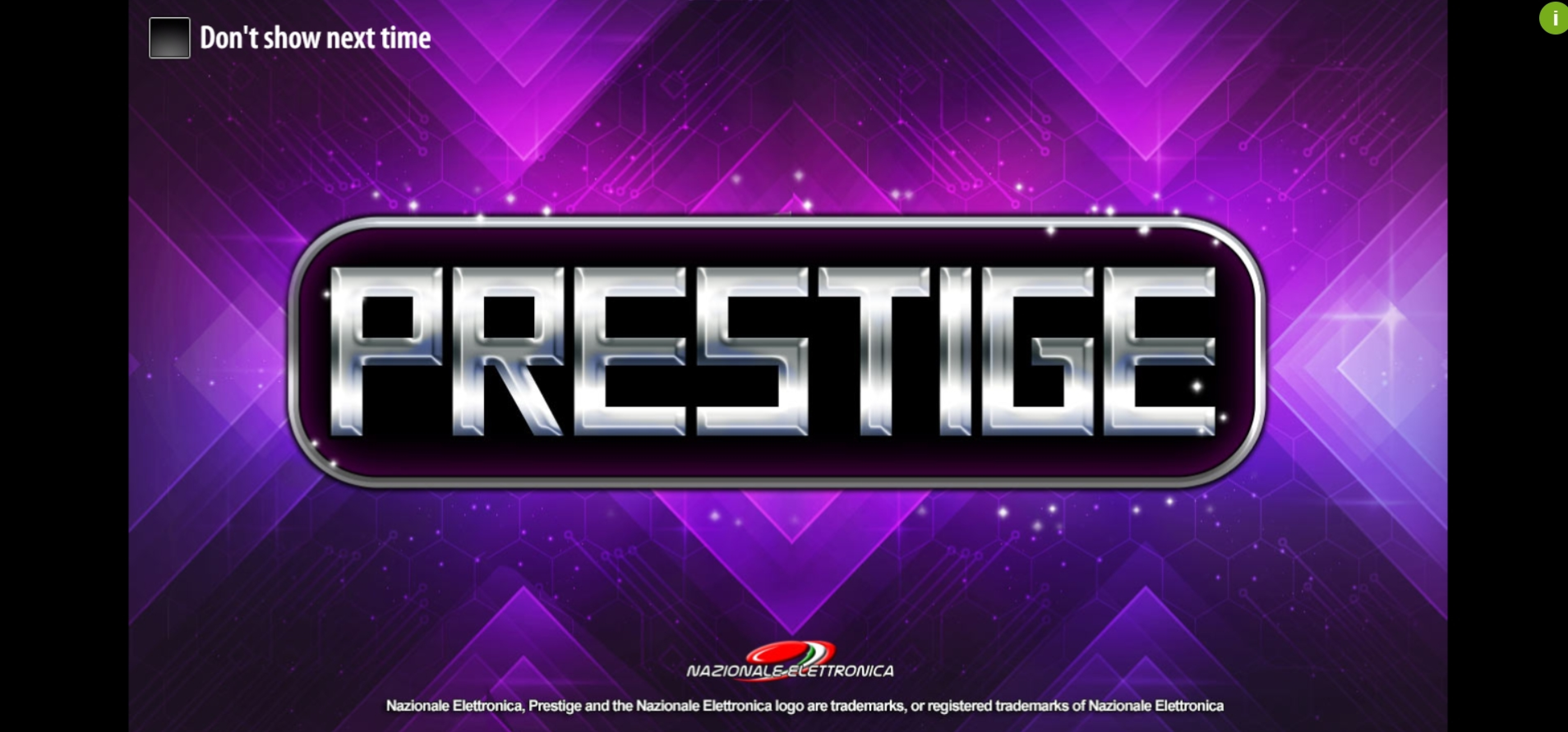 Play Prestige Free Casino Slot Game by Nazionale Elettronica