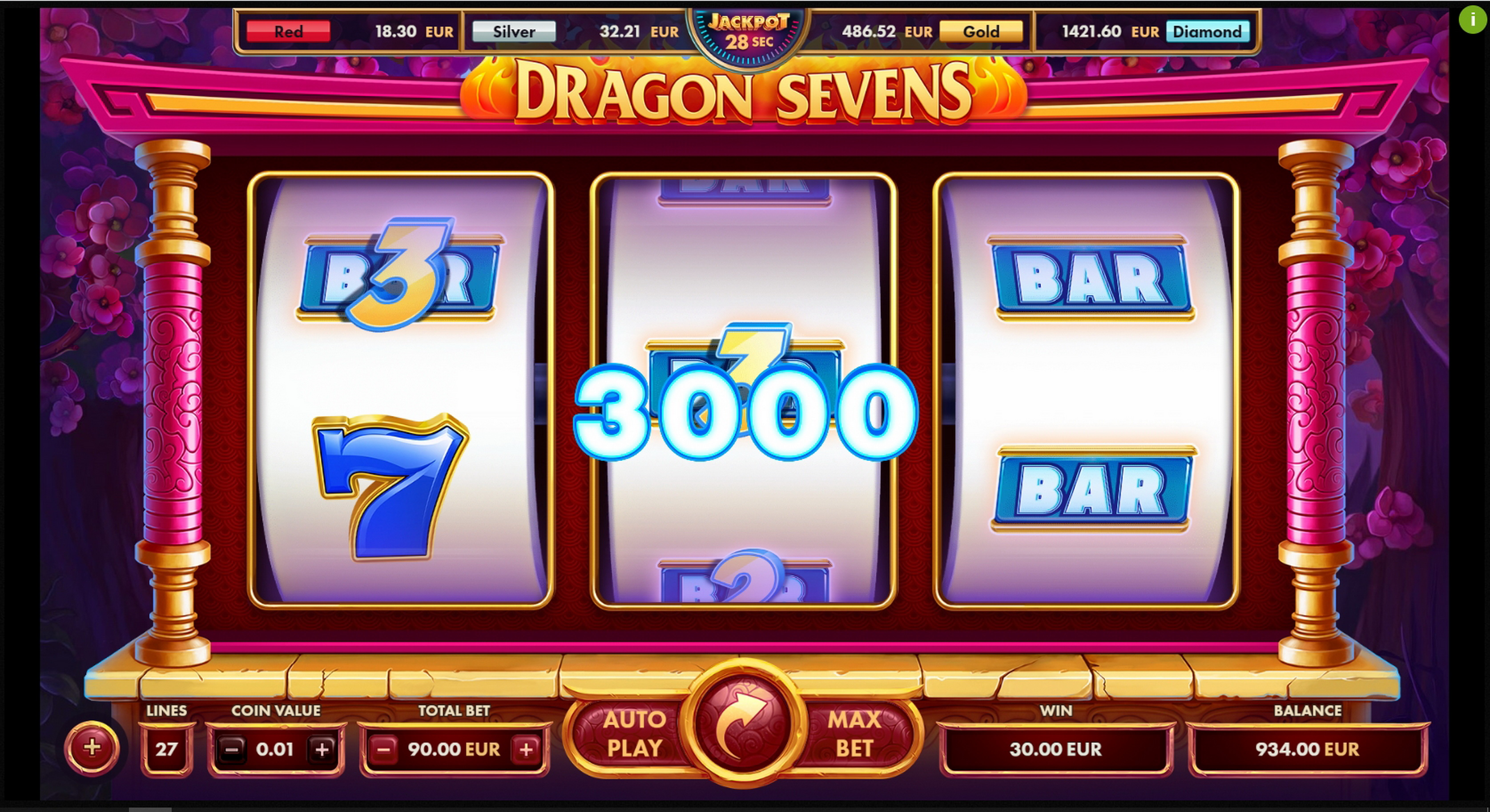 Win Money in Dragon Sevens Free Slot Game by NetGame