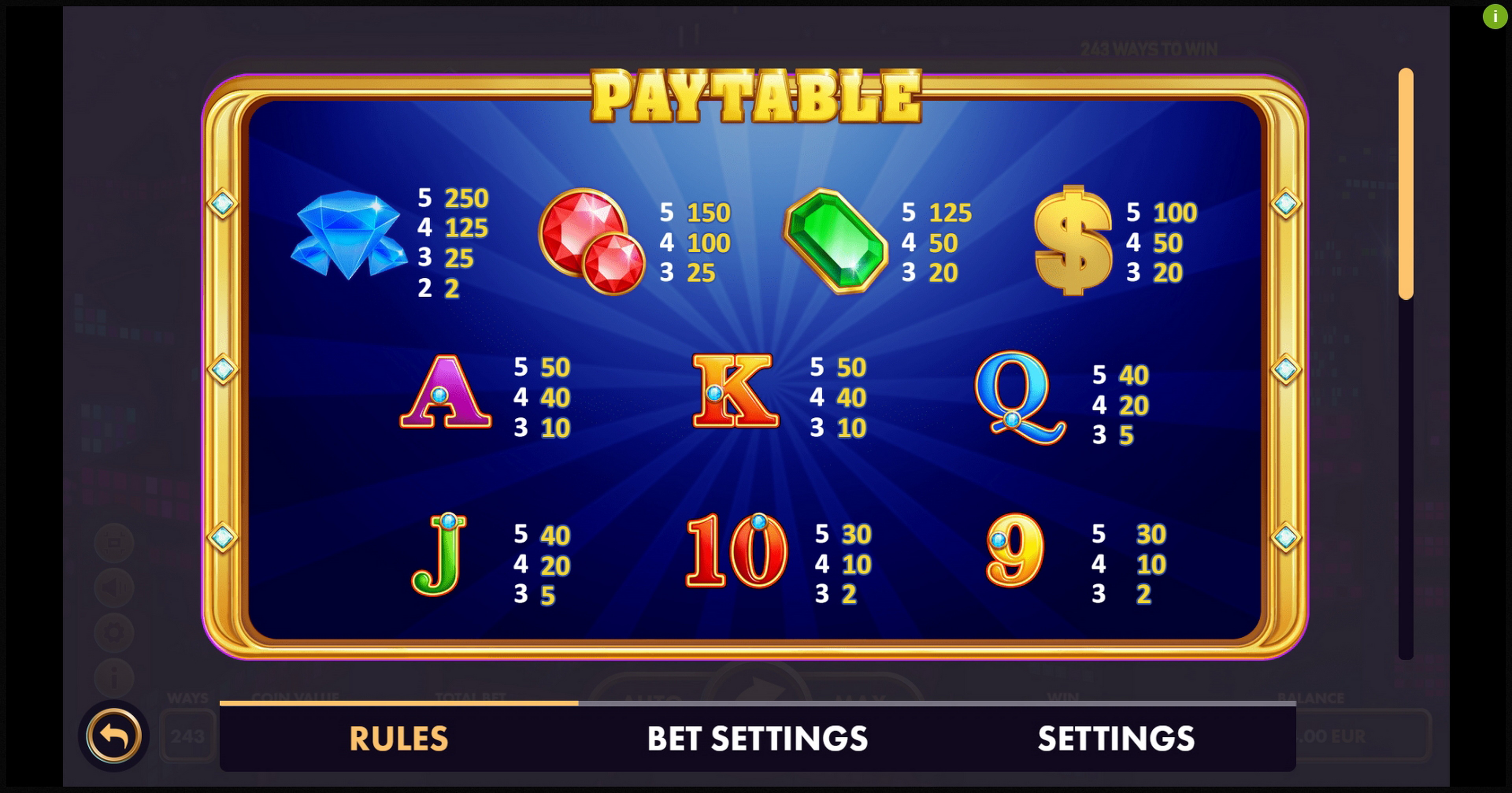 Info of Fortune Cash Slot Game by NetGame
