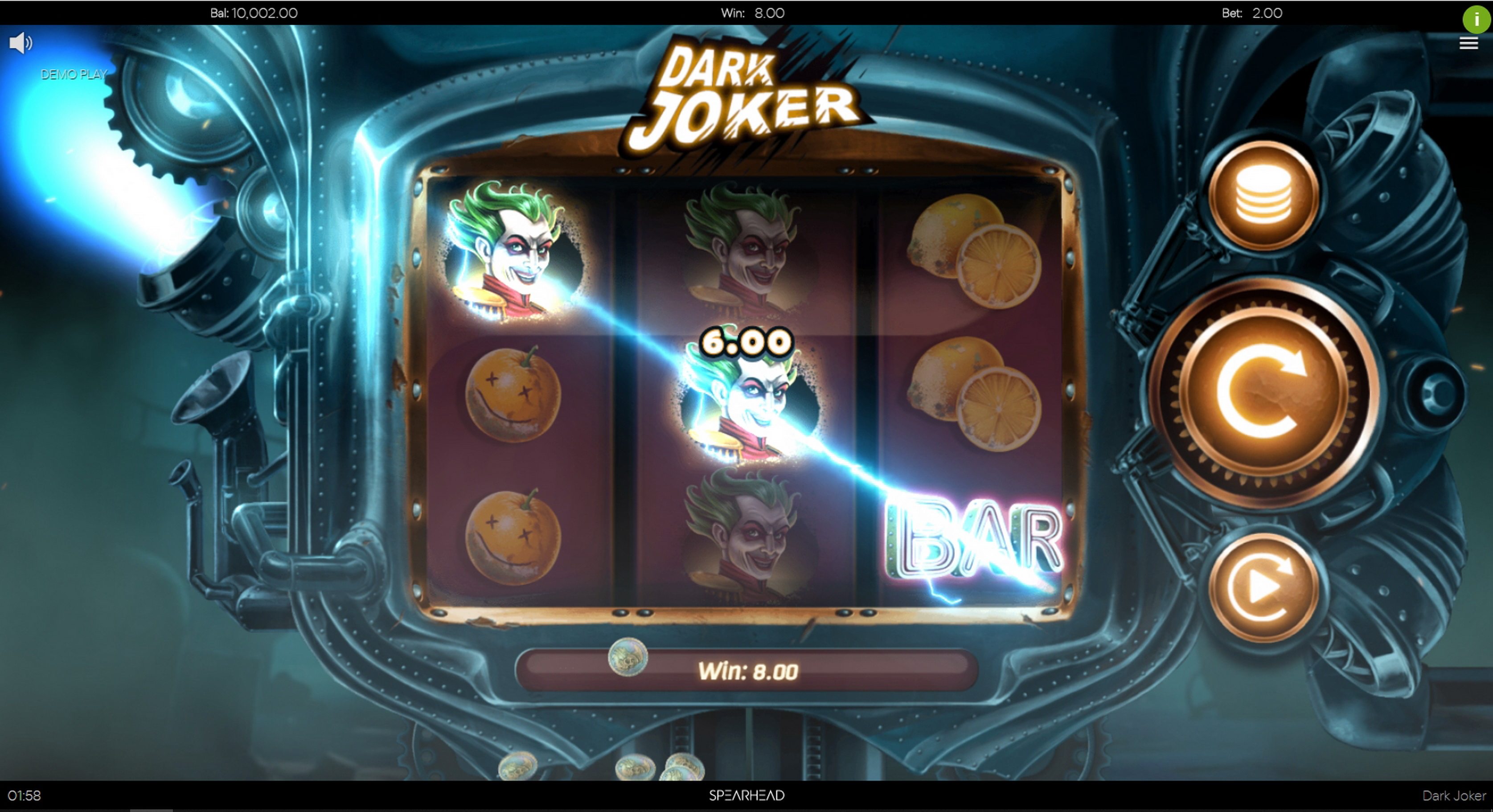 Win Money in Dark Joker (Spearhead Studios) Free Slot Game by Spearhead Studios