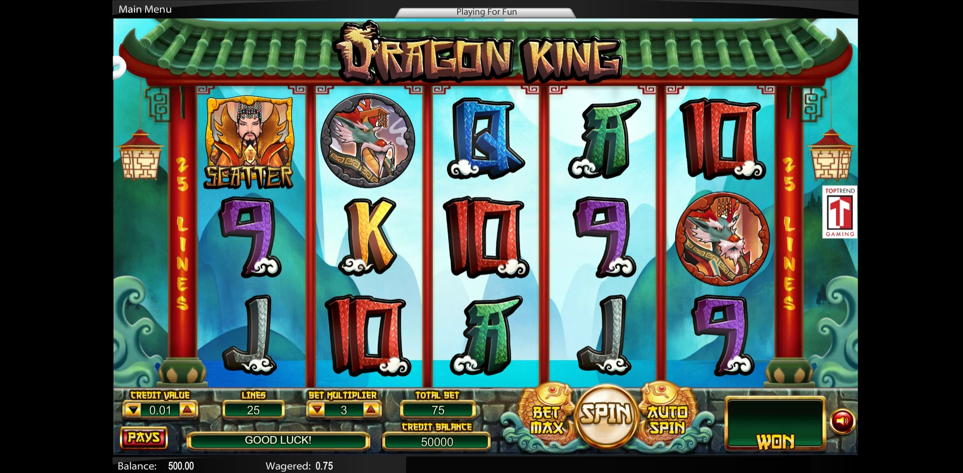 Win Money in Dragon King (Swintt) Free Slot Game by Swintt