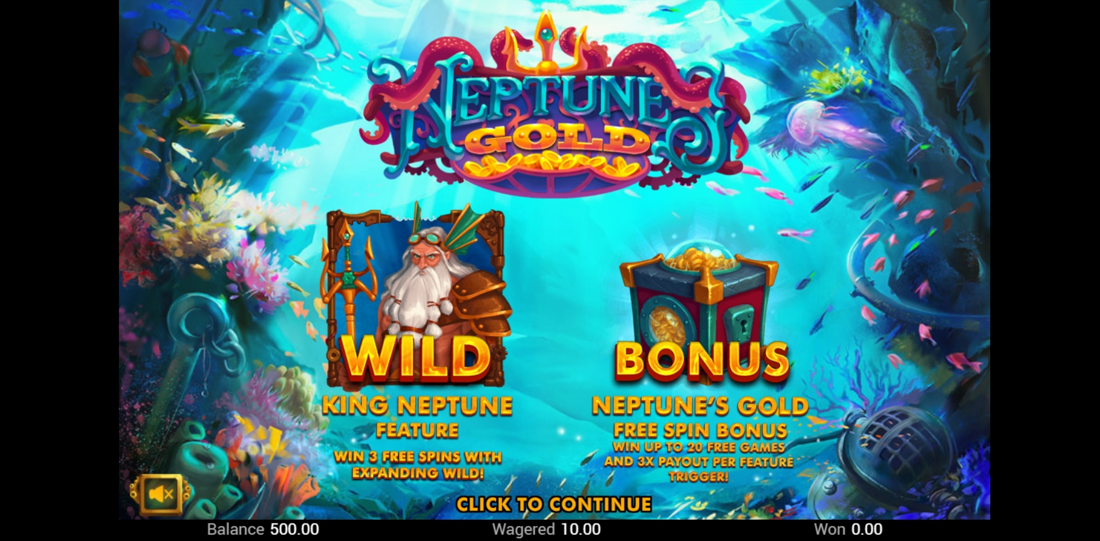 Win Money in Neptunes Gold (Swintt) Free Slot Game by Swintt
