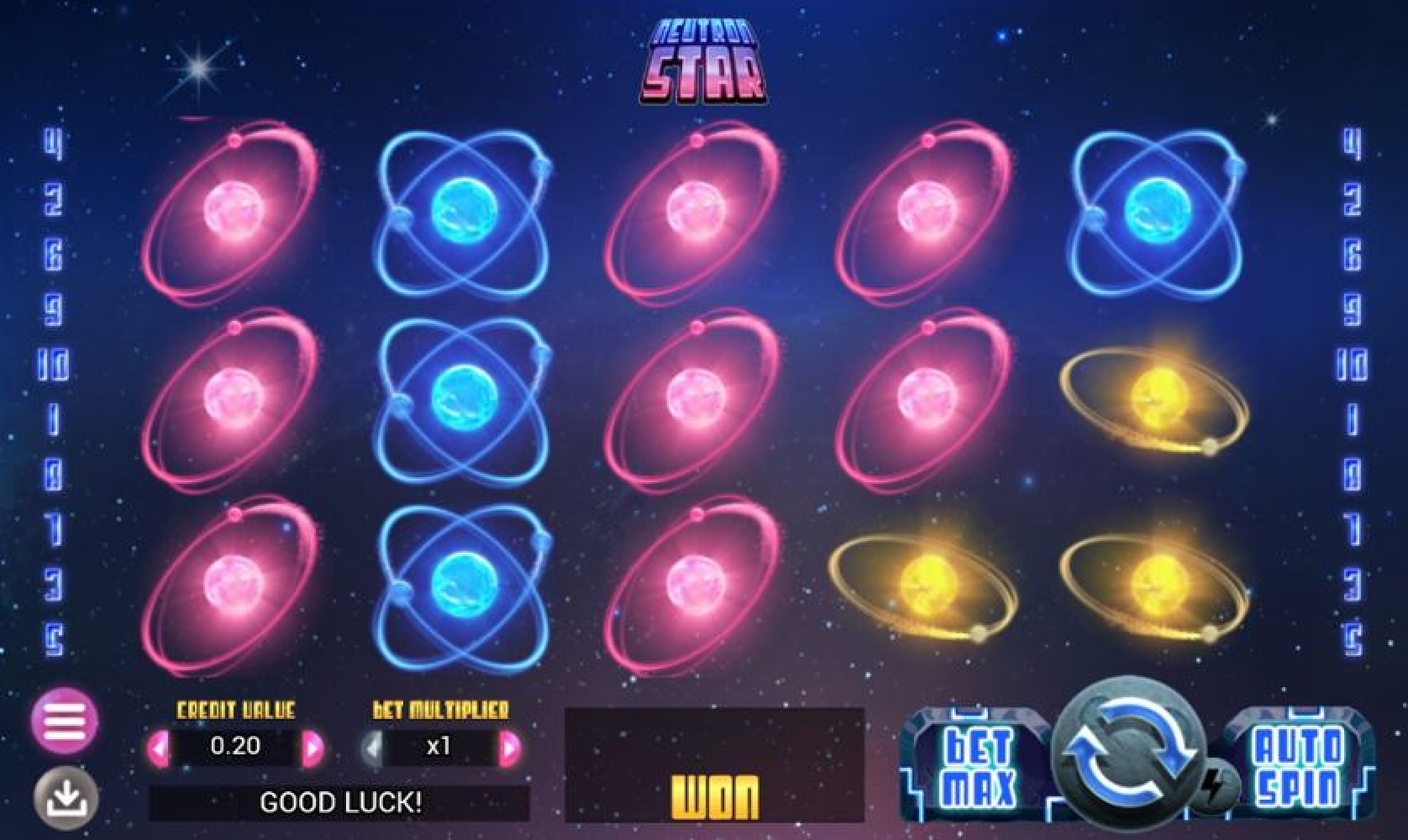 Win Money in Neutron Star Free Slot Game by Swintt