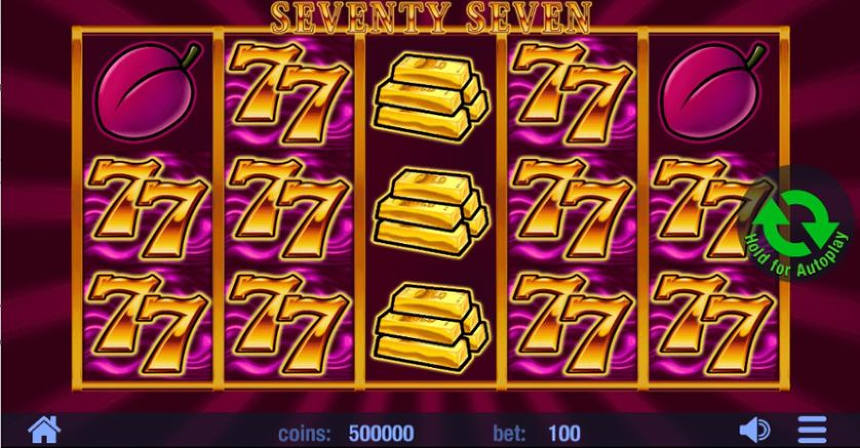 Win Money in Seventy Seven Free Slot Game by Swintt