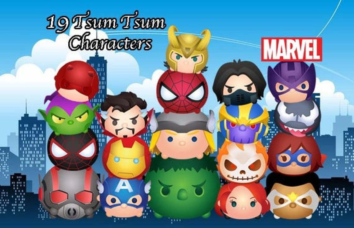 The Marvel Tsum Tsum Online Slot Demo Game by Virtual Tech