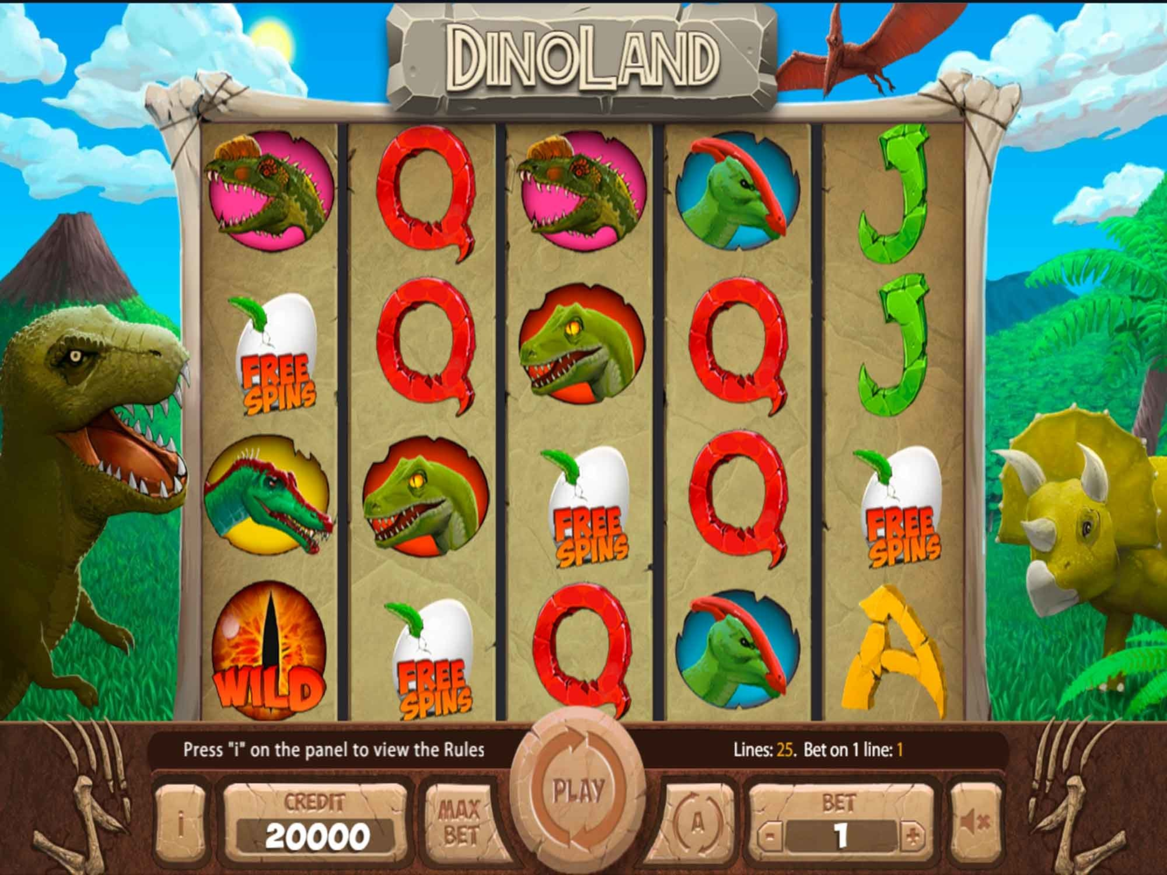 The Dinoland Online Slot Demo Game by X Card