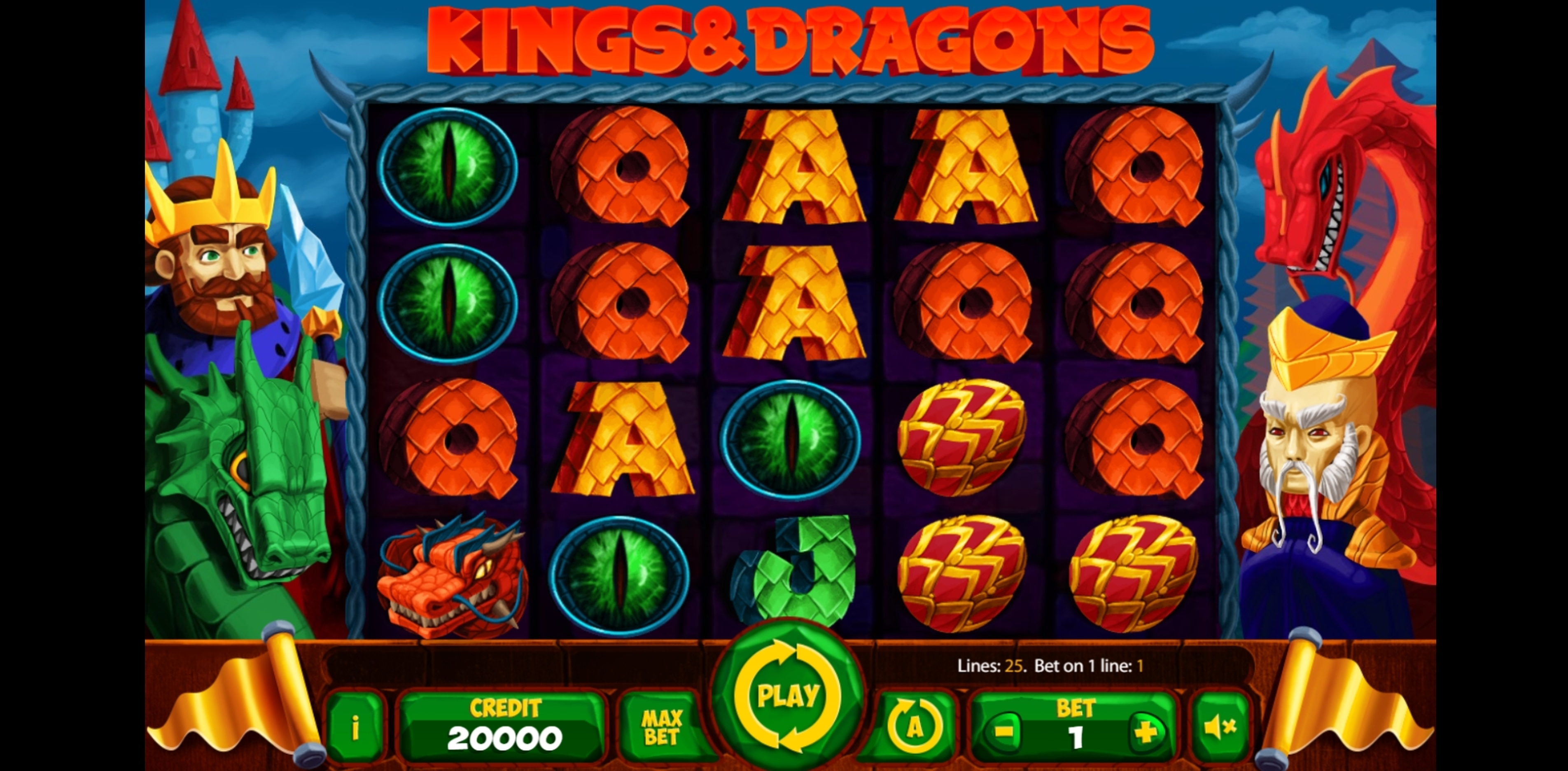 Reels in Kings And Dragons Slot Game by X Card