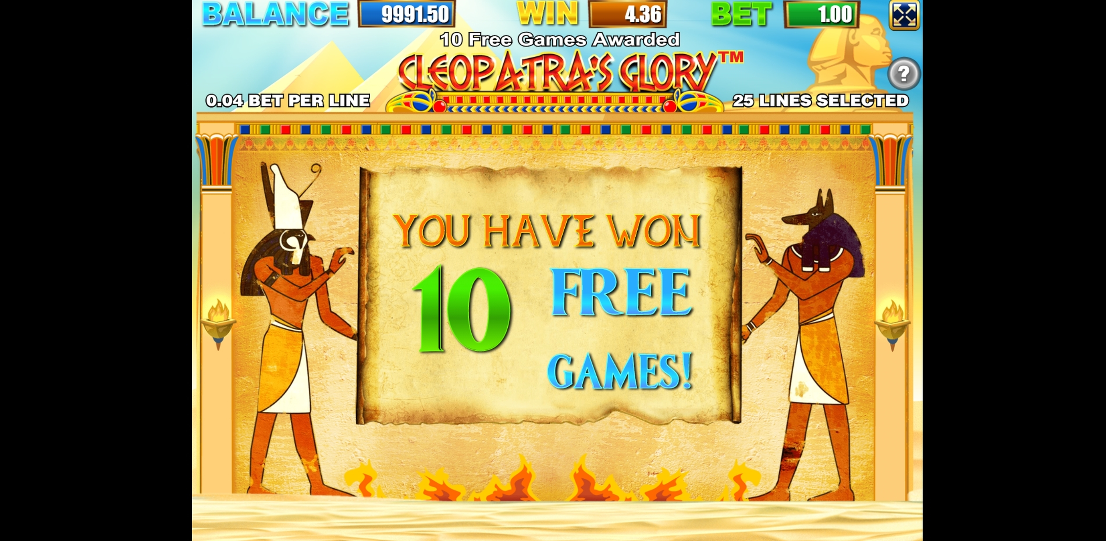 Win Money in Cleopatras Glory Free Slot Game by Allbet Gaming