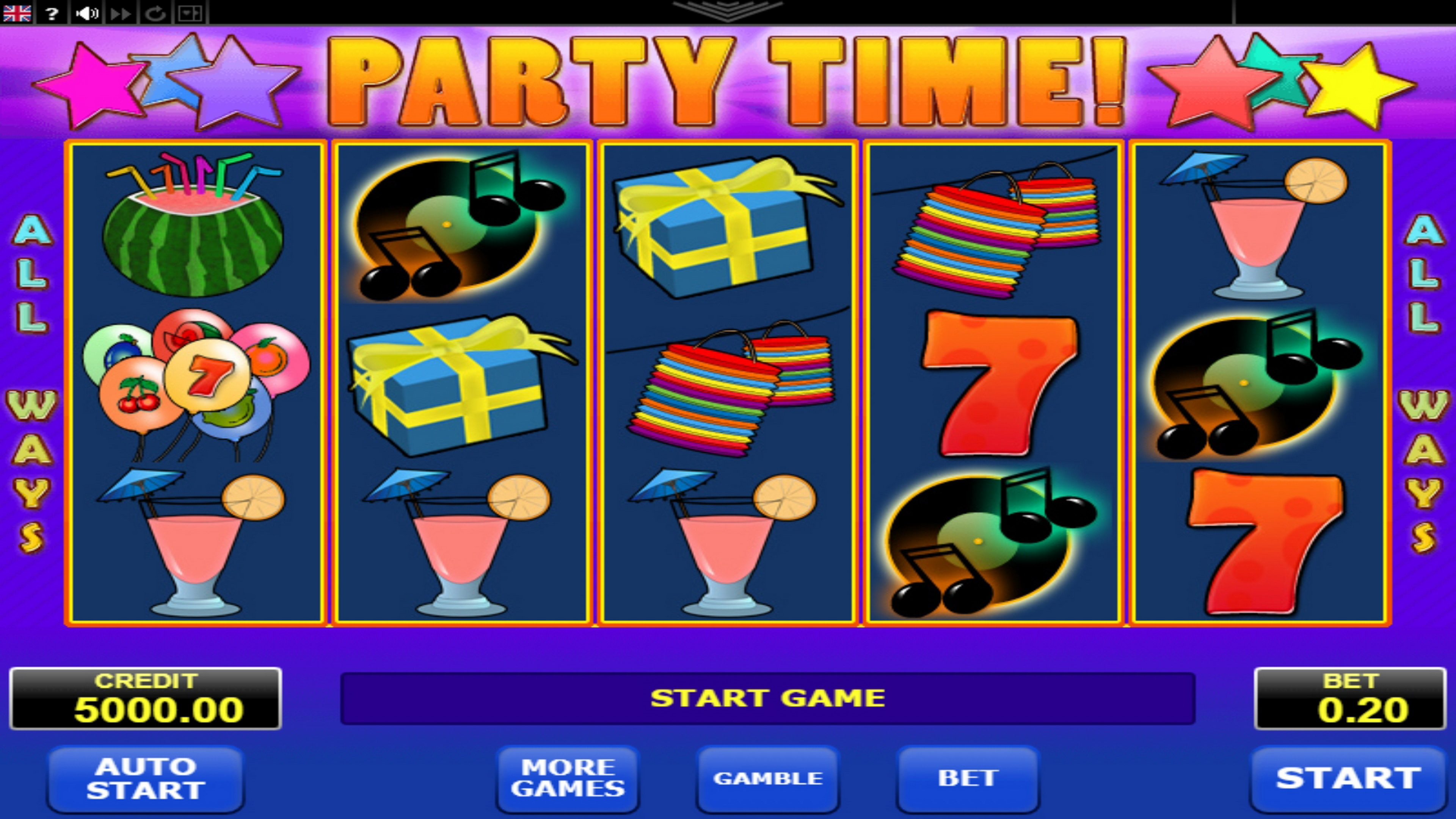 Reels in Party Time Slot Game by Amatic Industries