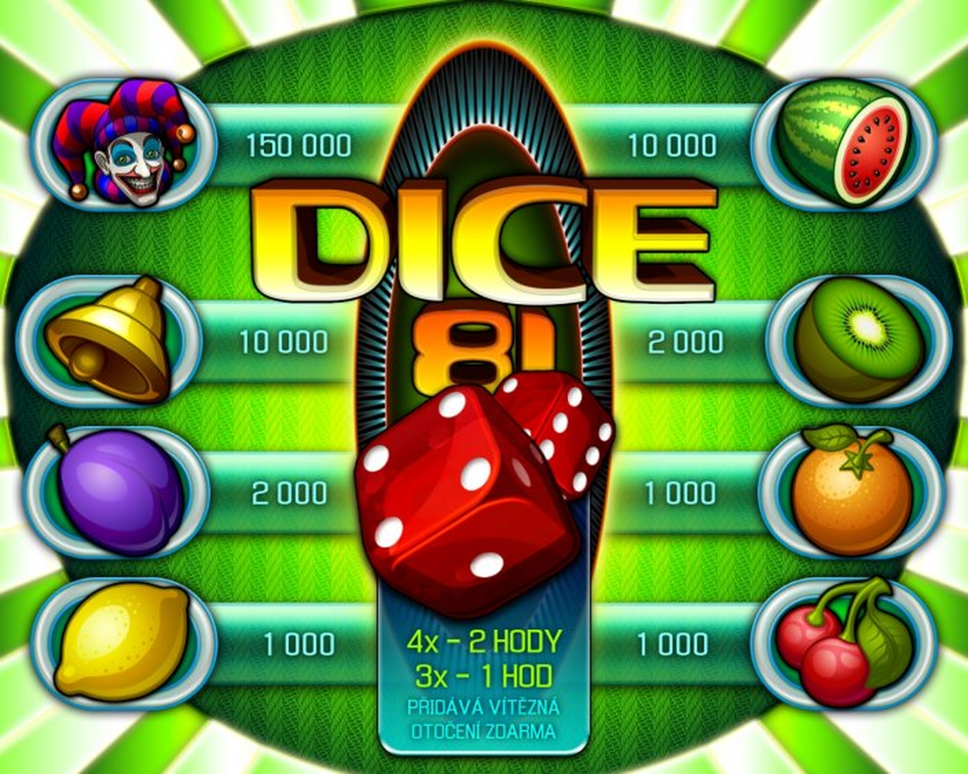 The Dice 81 Online Slot Demo Game by Apollo Games