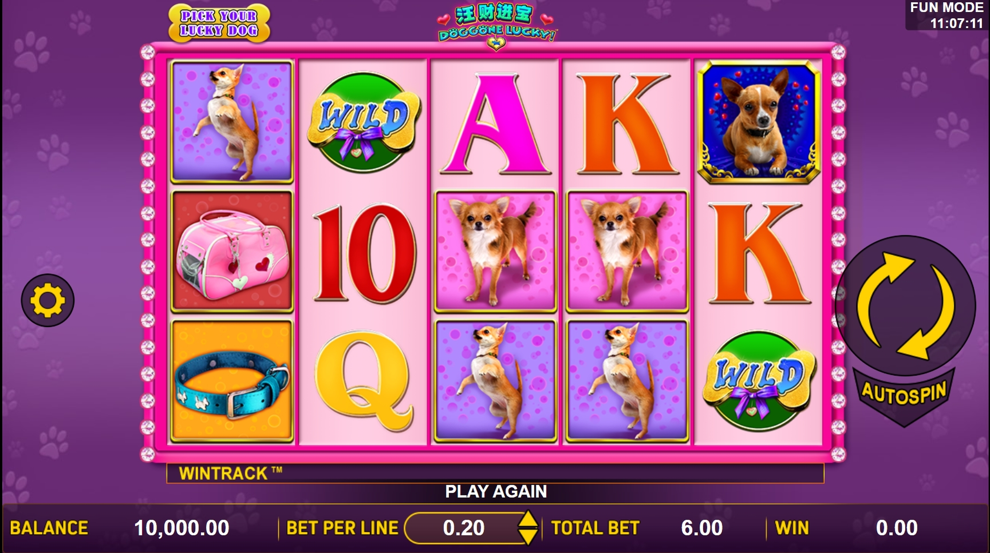 Reels in Doggone Lucky Slot Game by Aspect Gaming