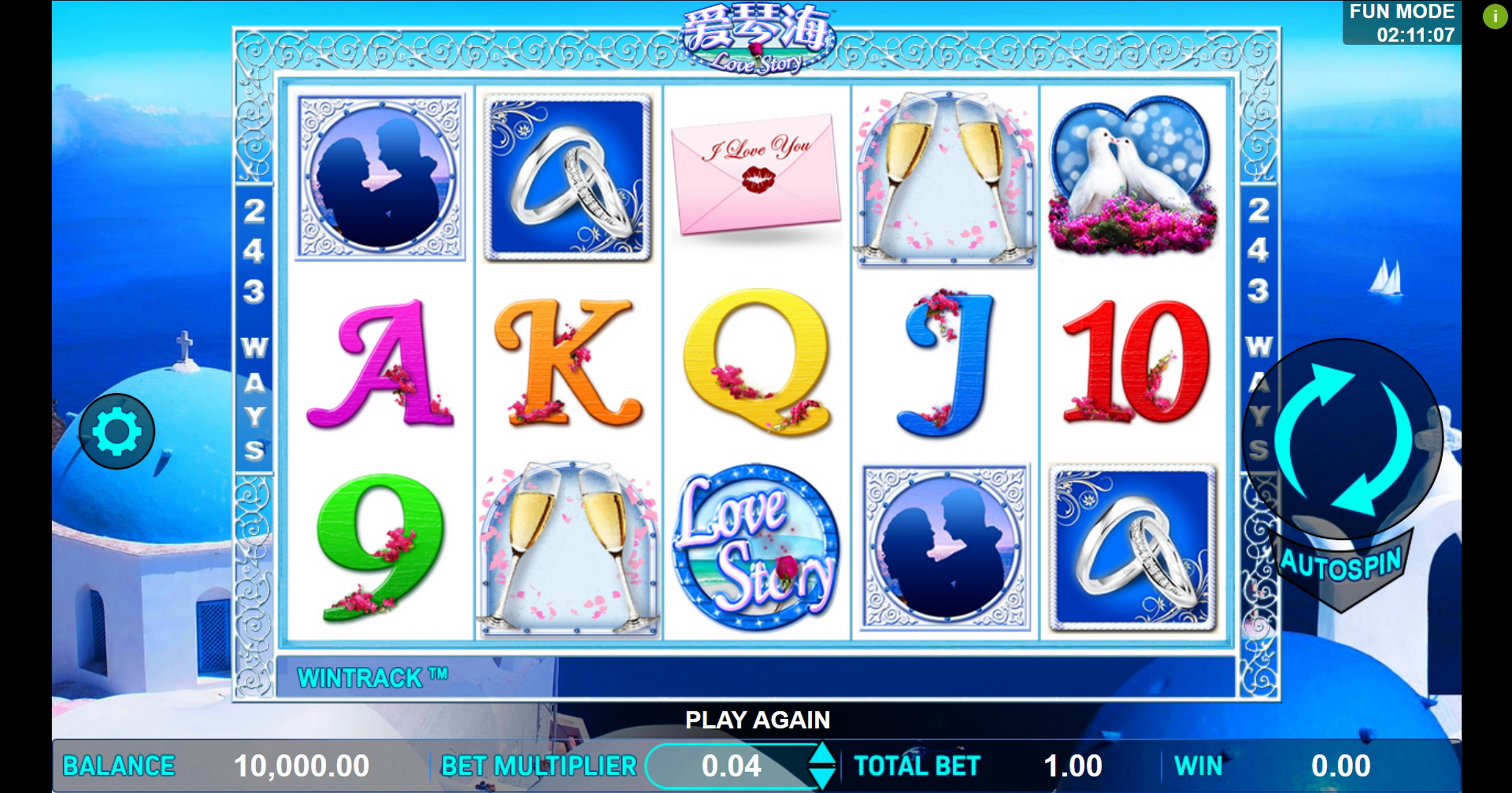 Reels in Love Story Slot Game by Aspect Gaming
