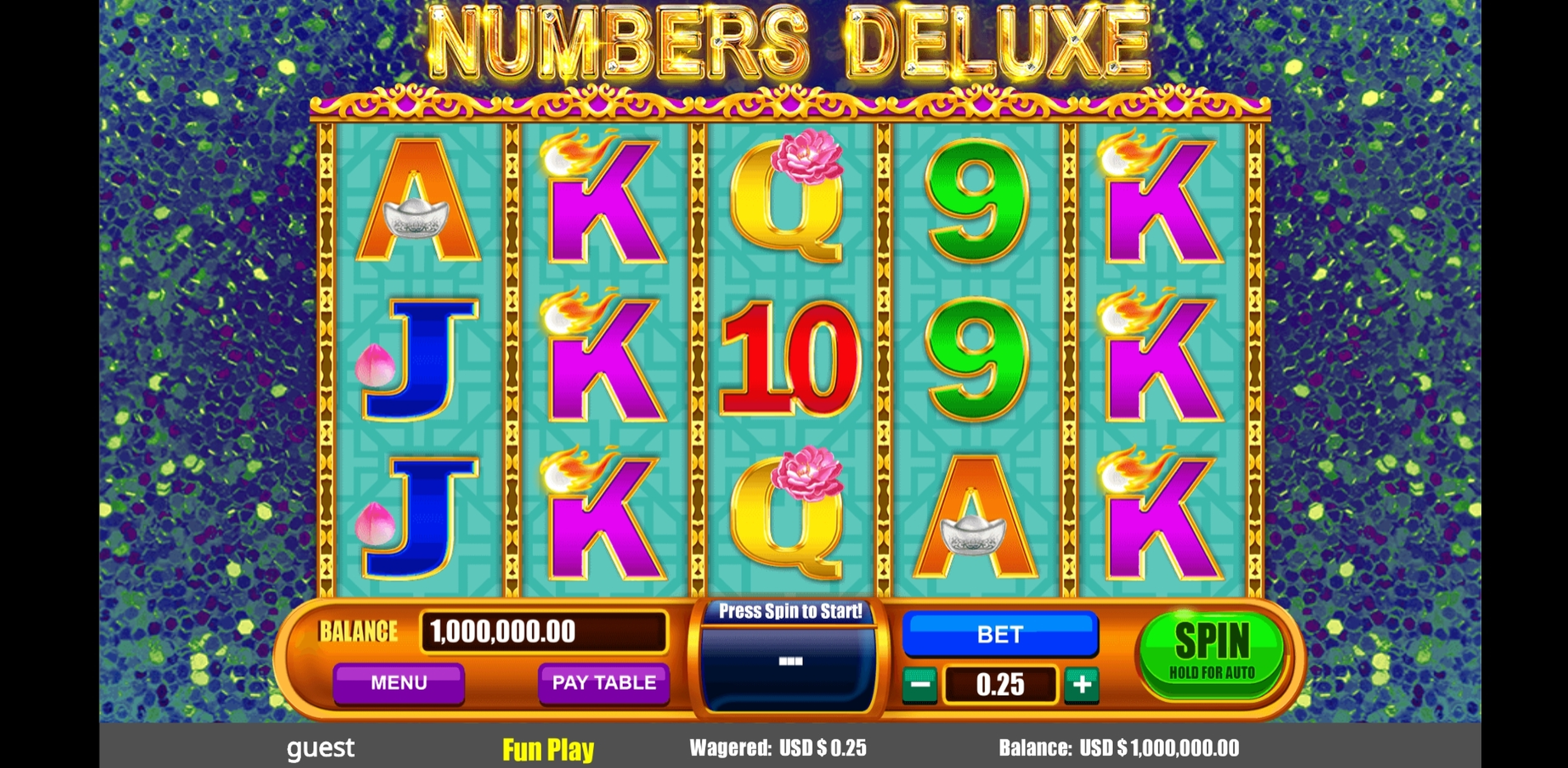 Reels in Numbers Deluxe Slot Game by August Gaming