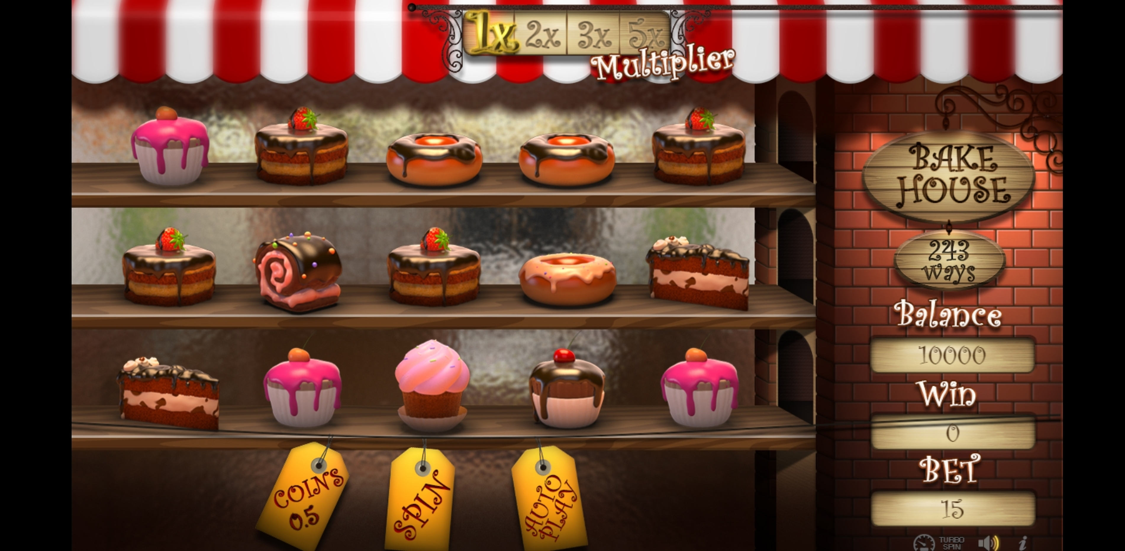 Reels in Bake House Slot Game by Betconstruct