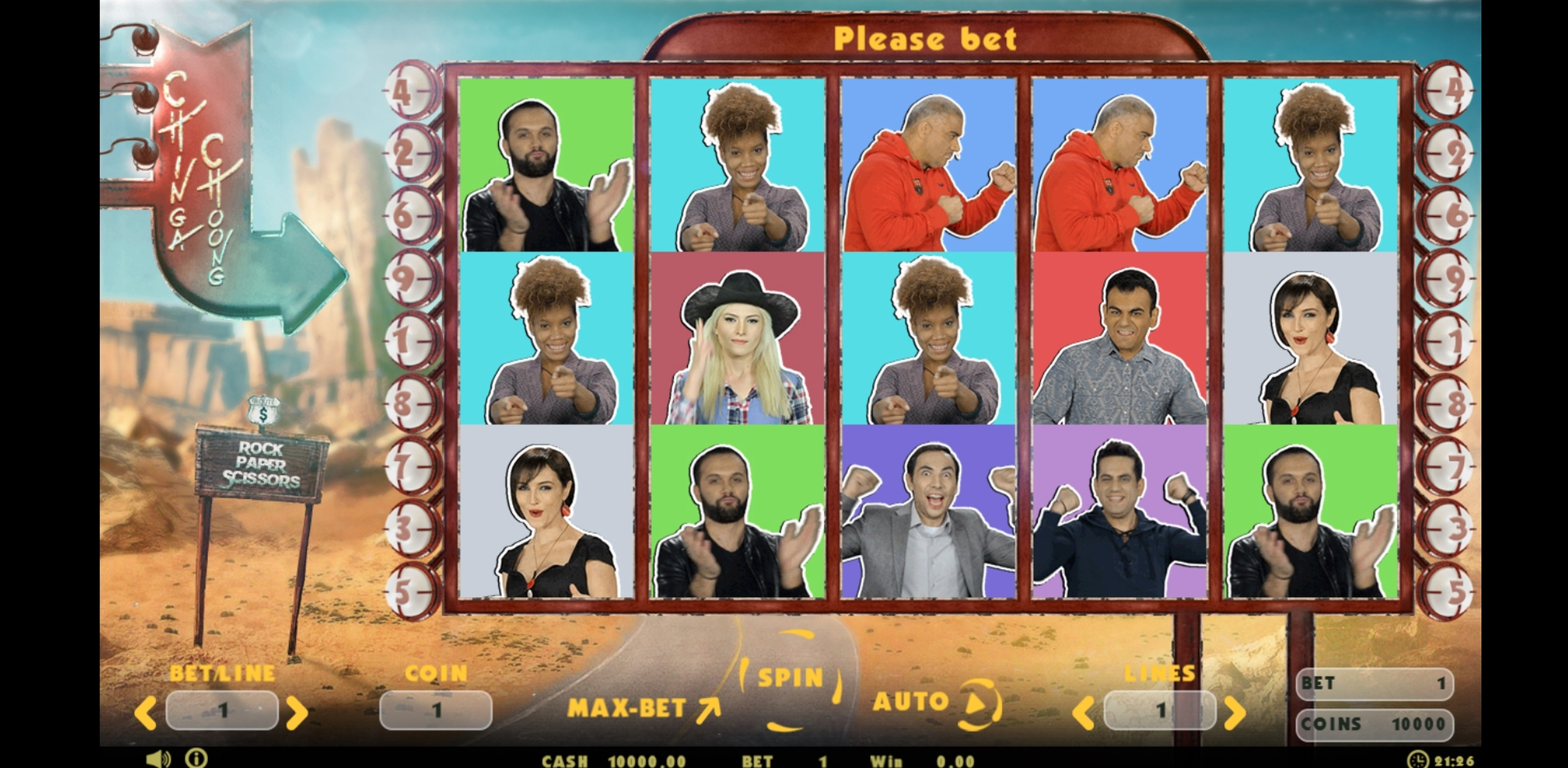 Reels in Chinga Choong Slot Game by Betconstruct