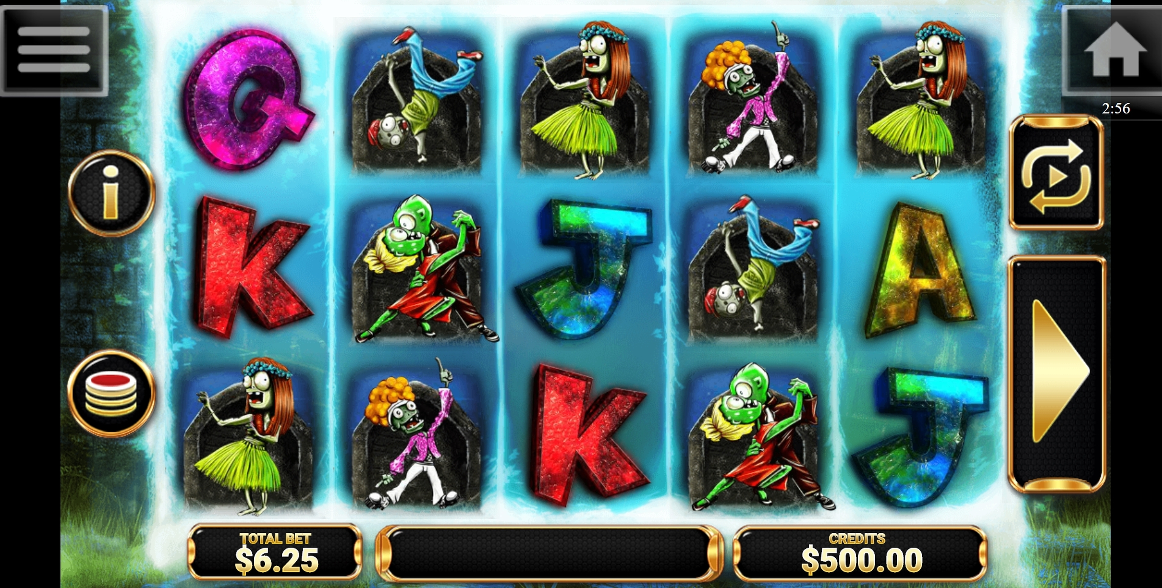 Reels in Dancin' Zombies Slot Game by Betconstruct