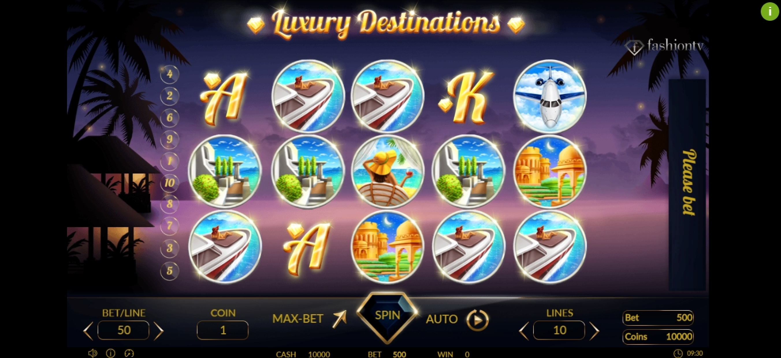 Reels in Luxury Destinations Slot Game by Betconstruct