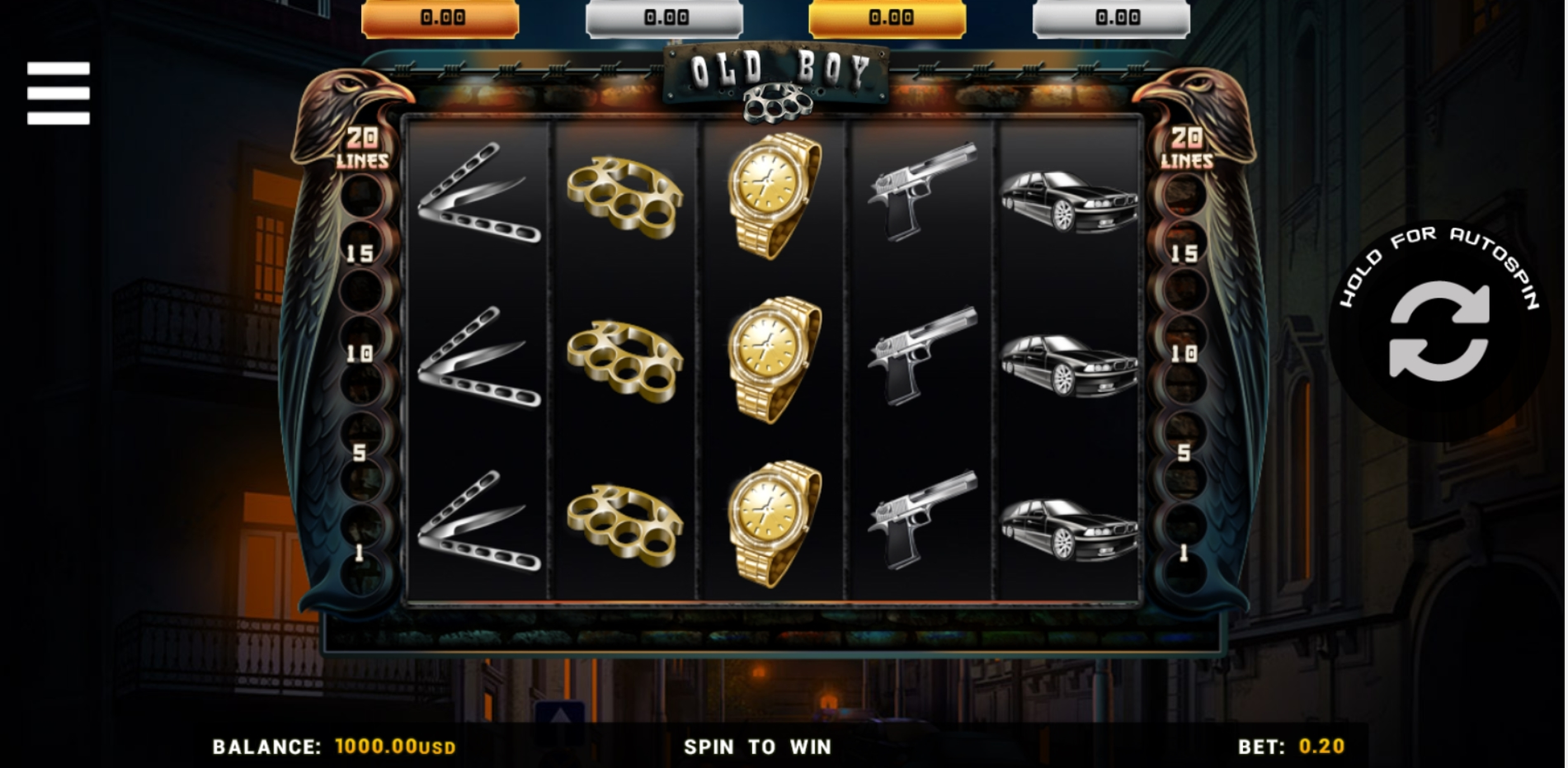 Reels in Old Boy Slot Game by Betsense