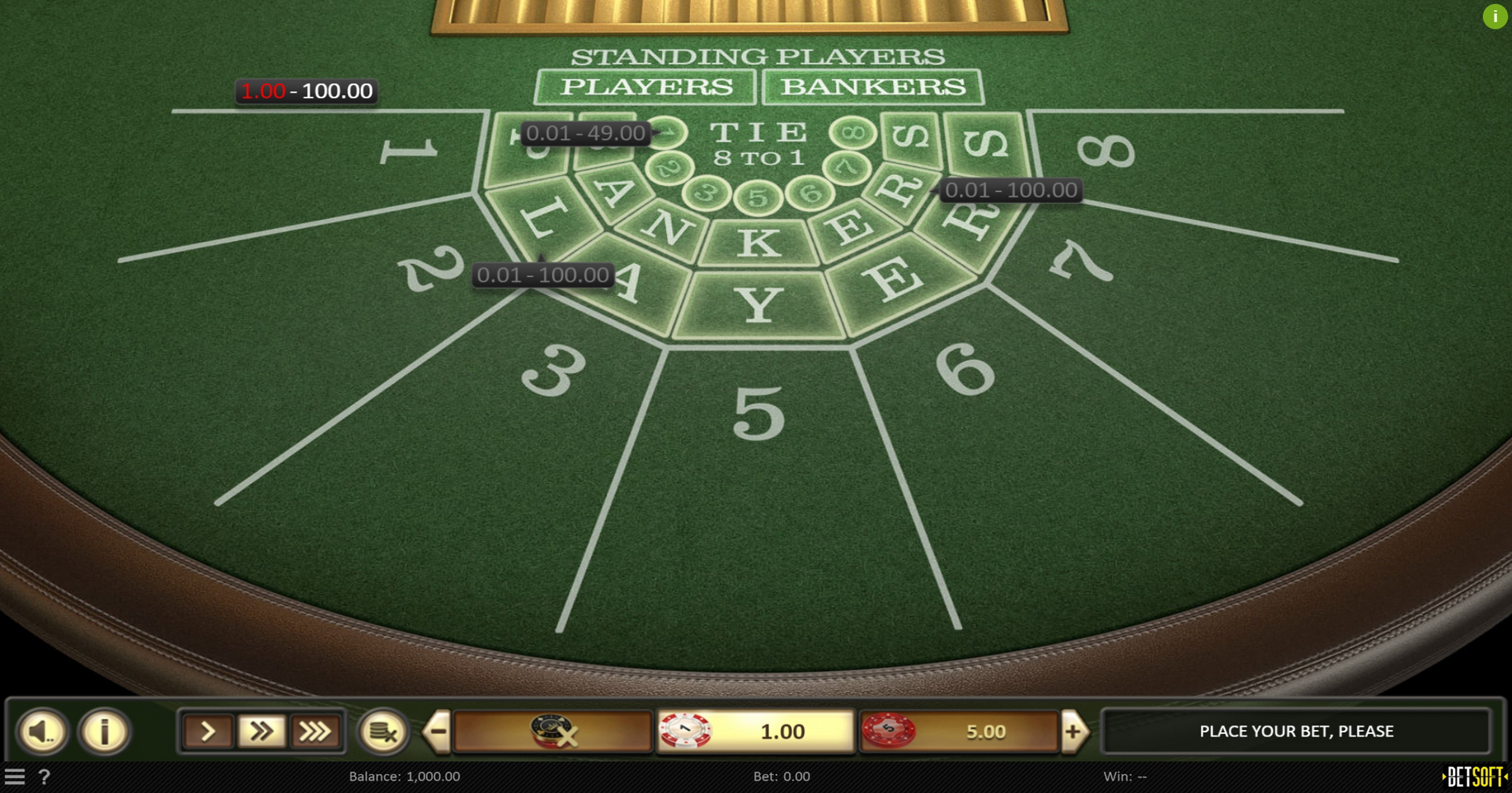 Reels in Baccarat (Betsoft) Slot Game by Betsoft