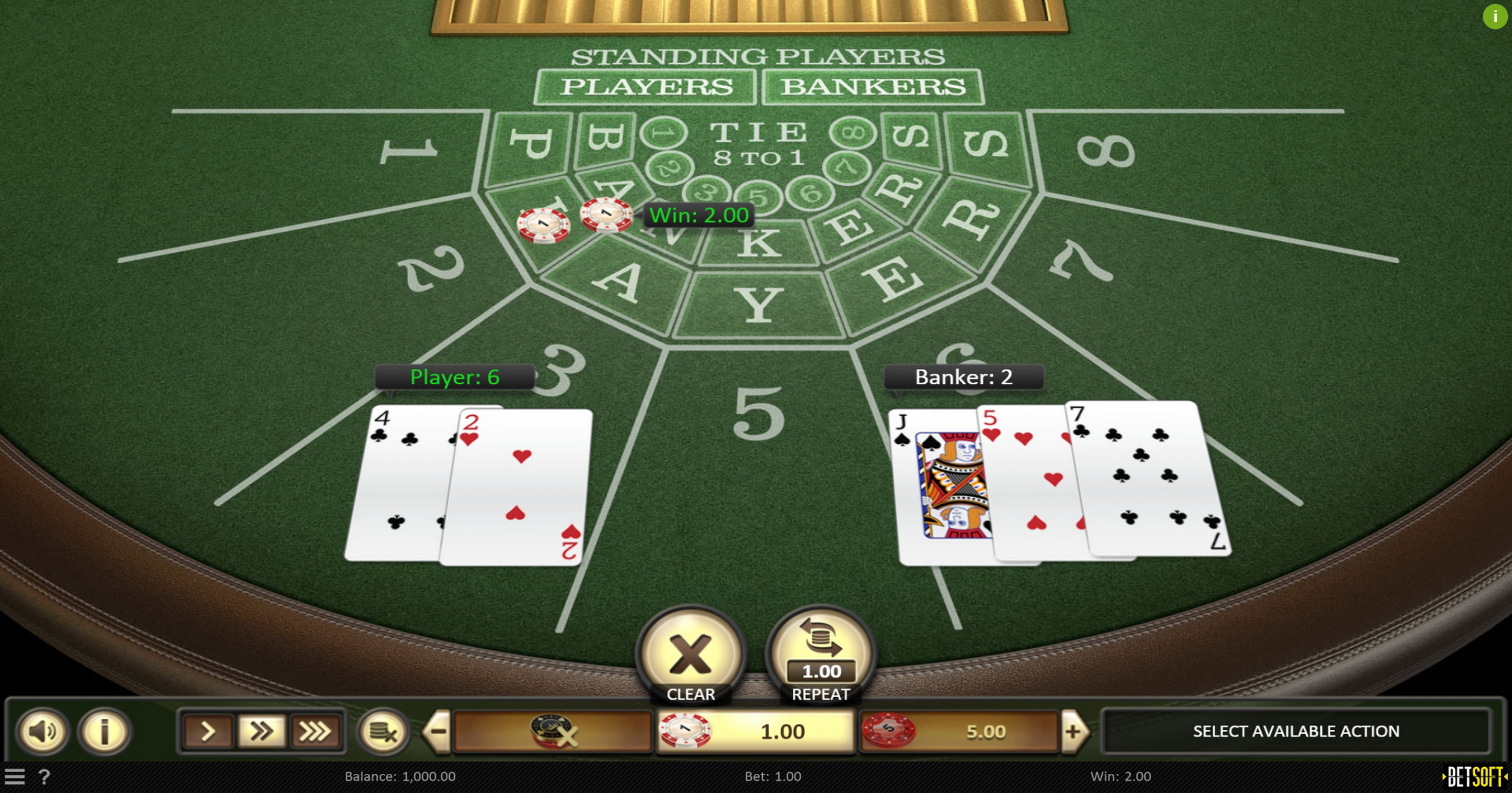 Win Money in Baccarat (Betsoft) Free Slot Game by Betsoft