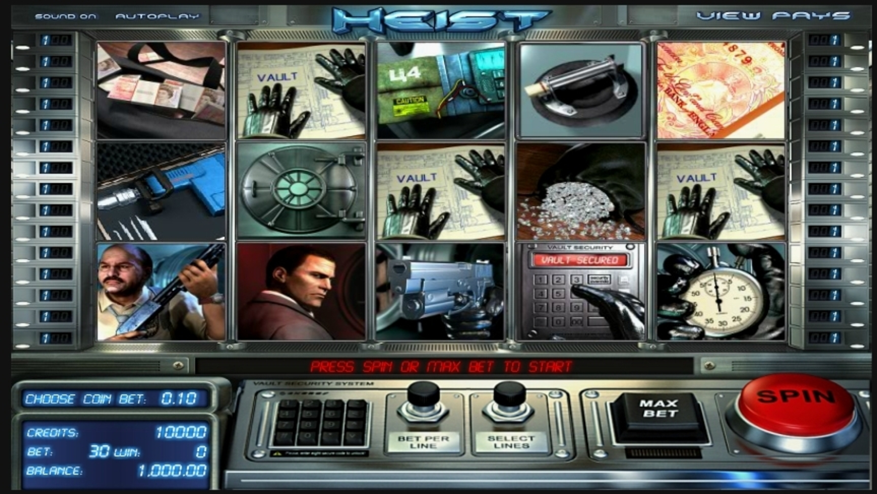 Reels in Heist (Betsoft) Slot Game by Betsoft