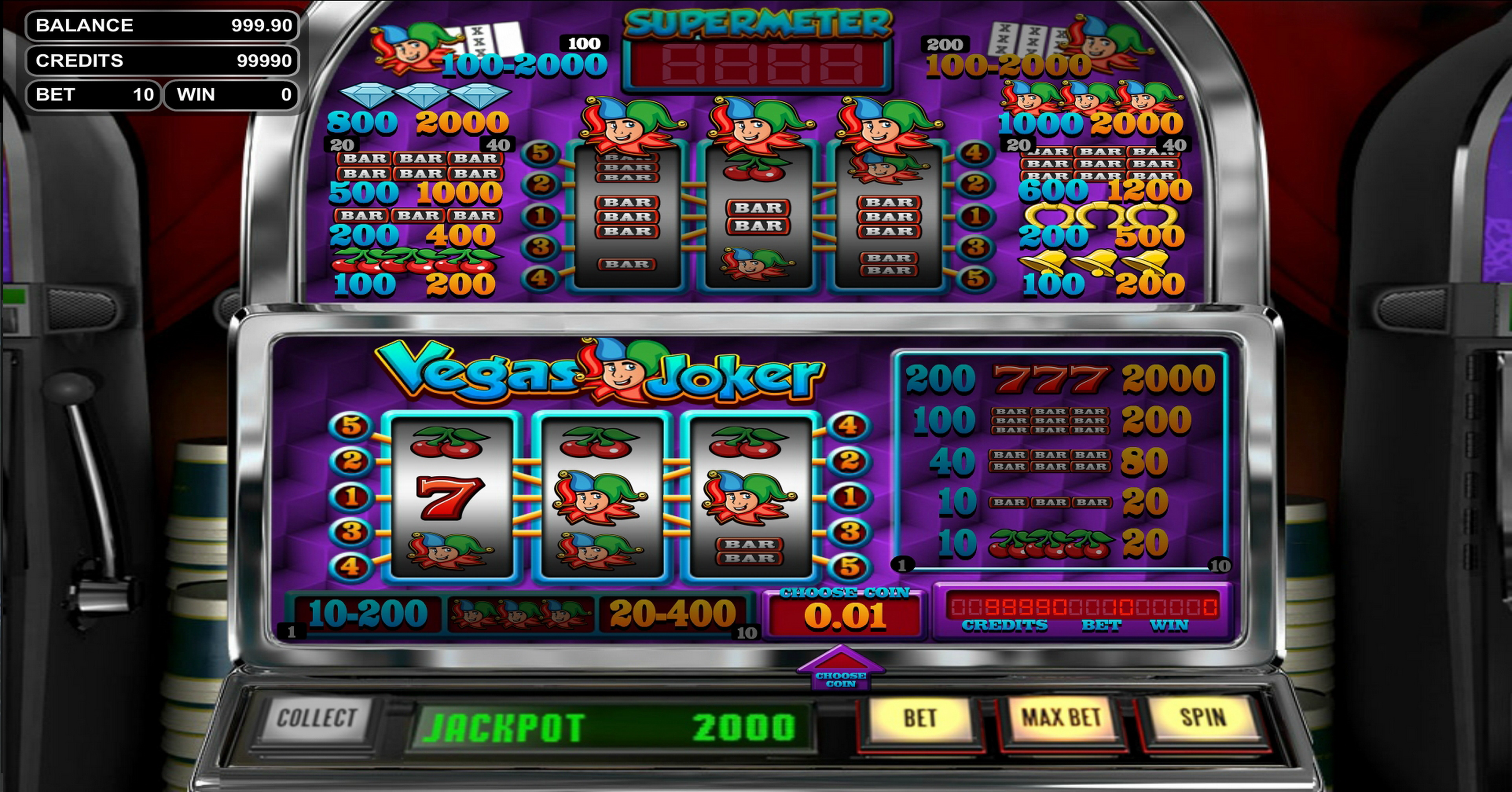 Reels in Vegas Joker Slot Game by Betsoft
