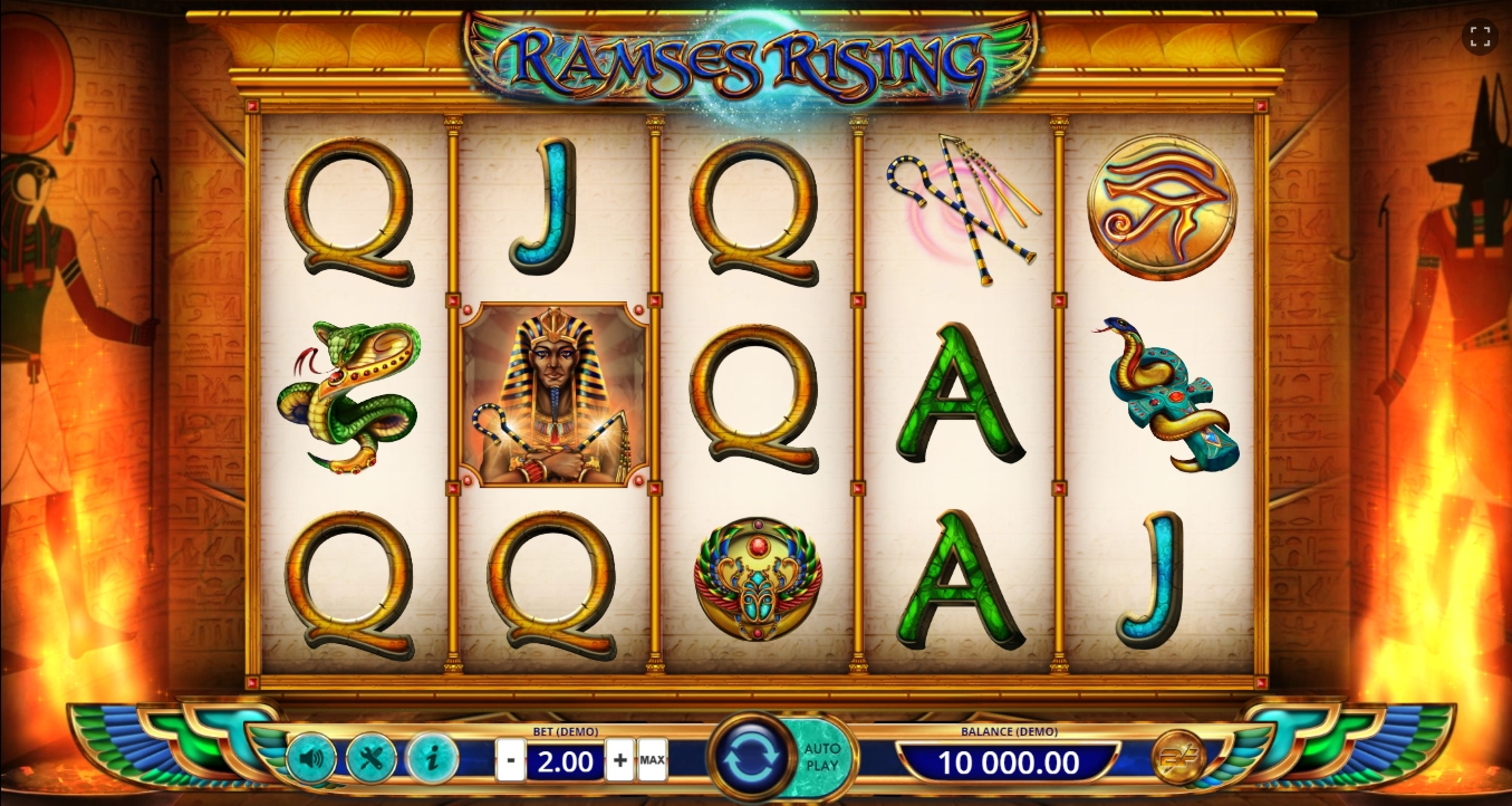 Reels in Ramses Rising Slot Game by BF games