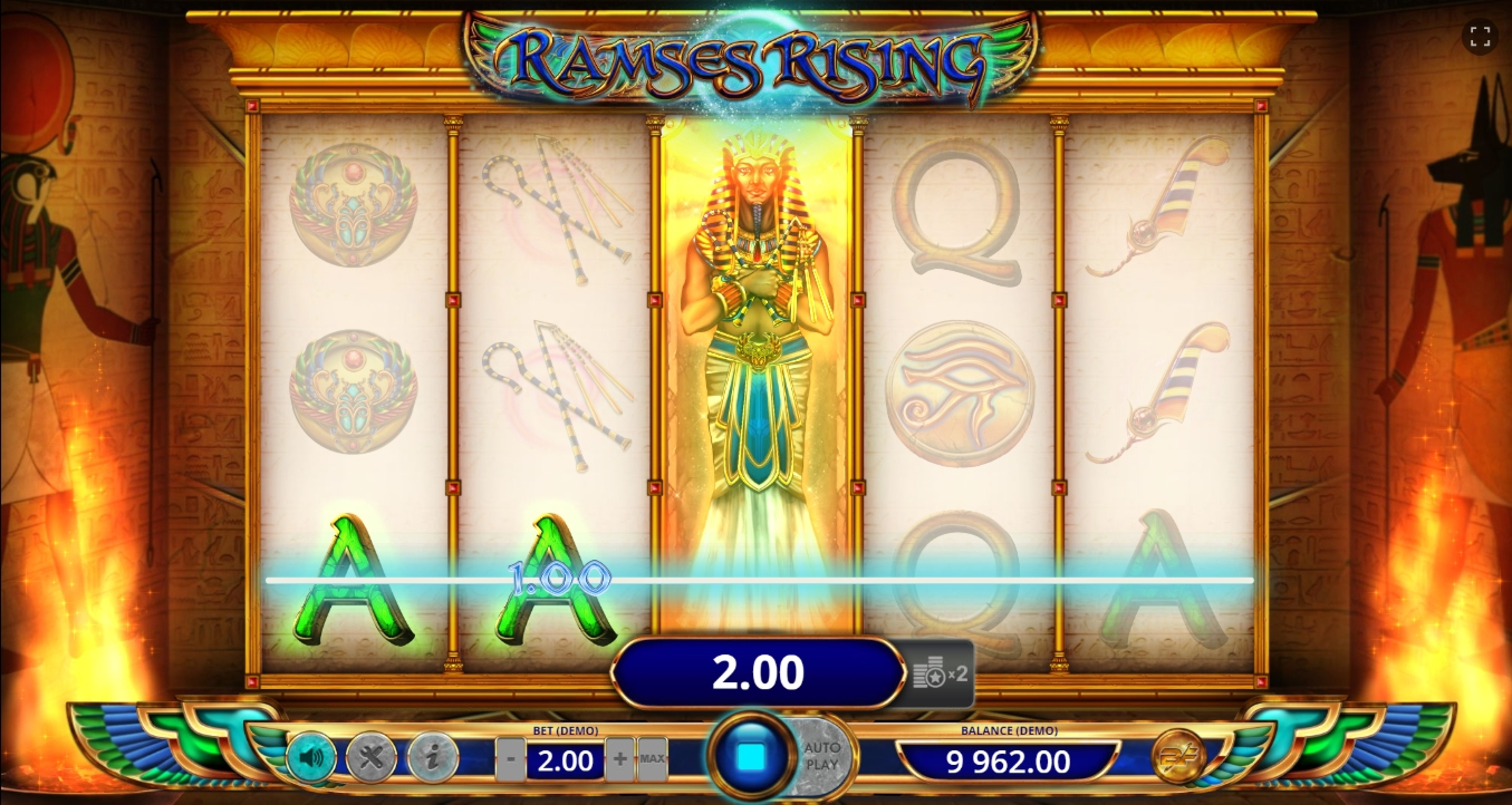 Win Money in Ramses Rising Free Slot Game by BF games