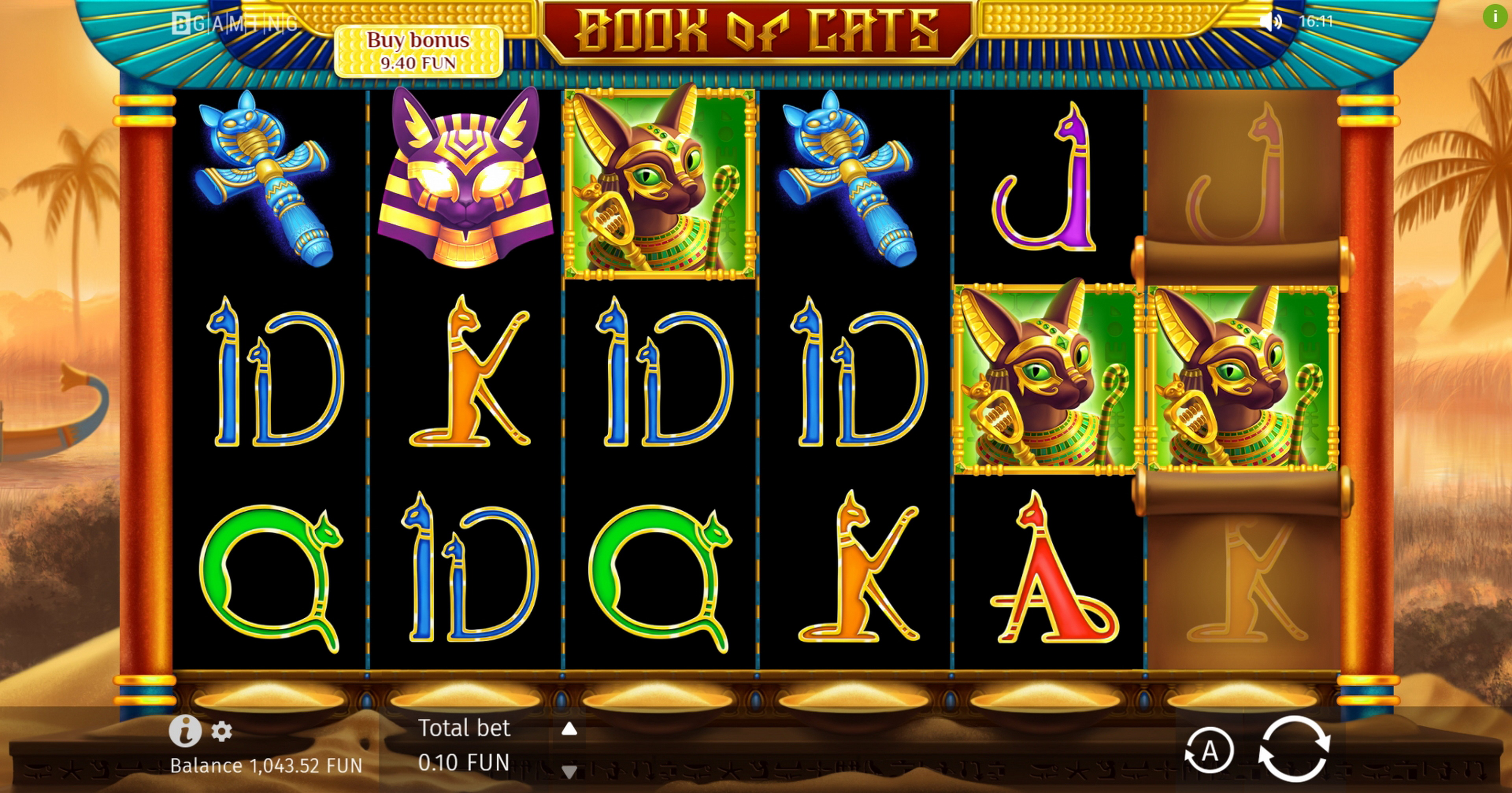 Reels in Book Of Cats Slot Game by BGAMING