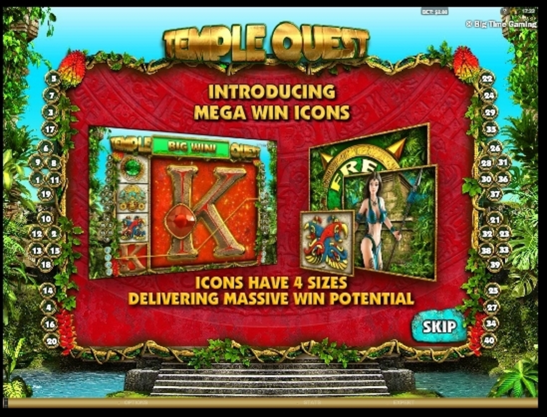 Play Temple Quest Free Casino Slot Game by Big Time Gaming