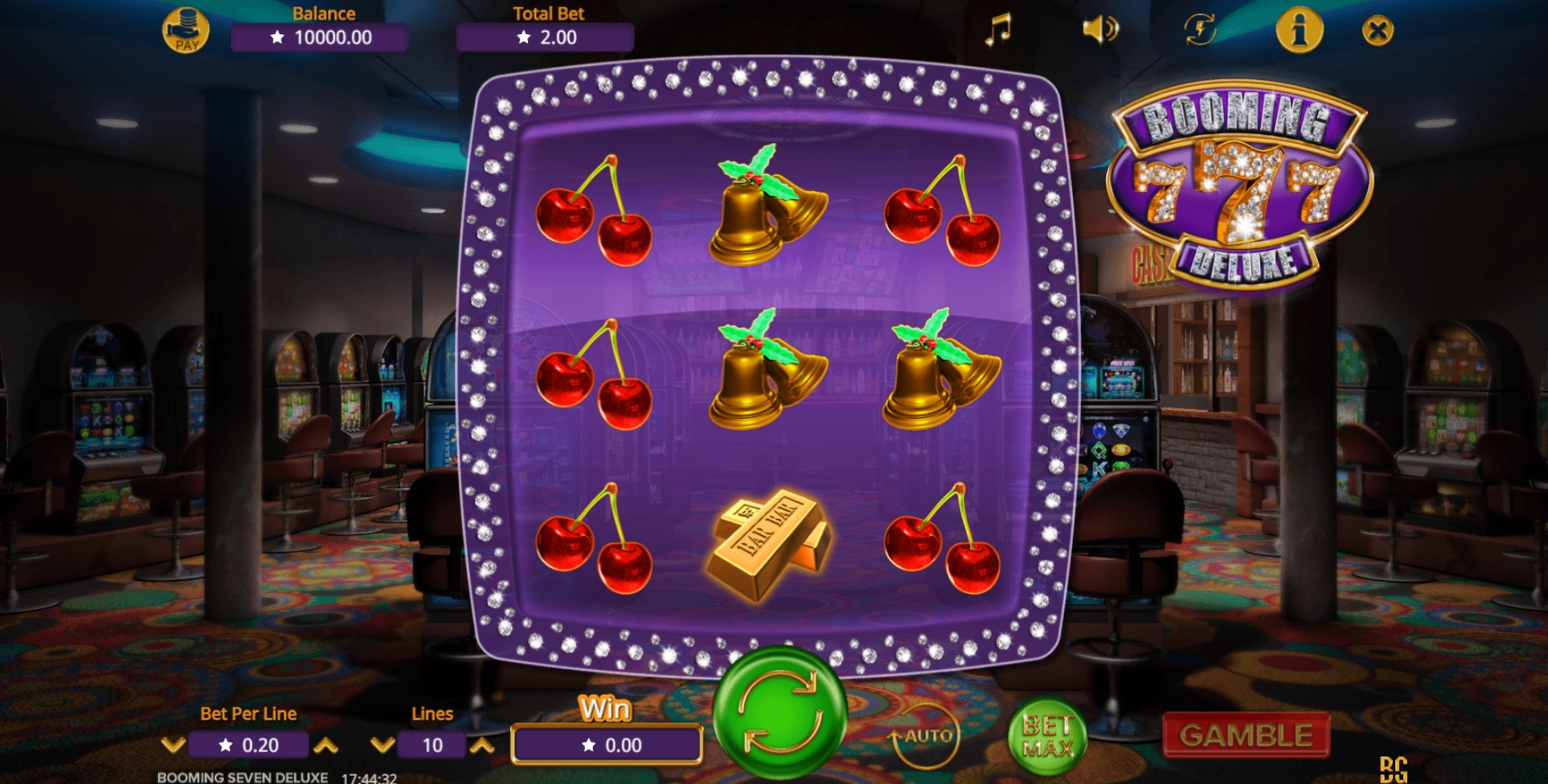 Reels in Booming Seven Deluxe Slot Game by Booming Games