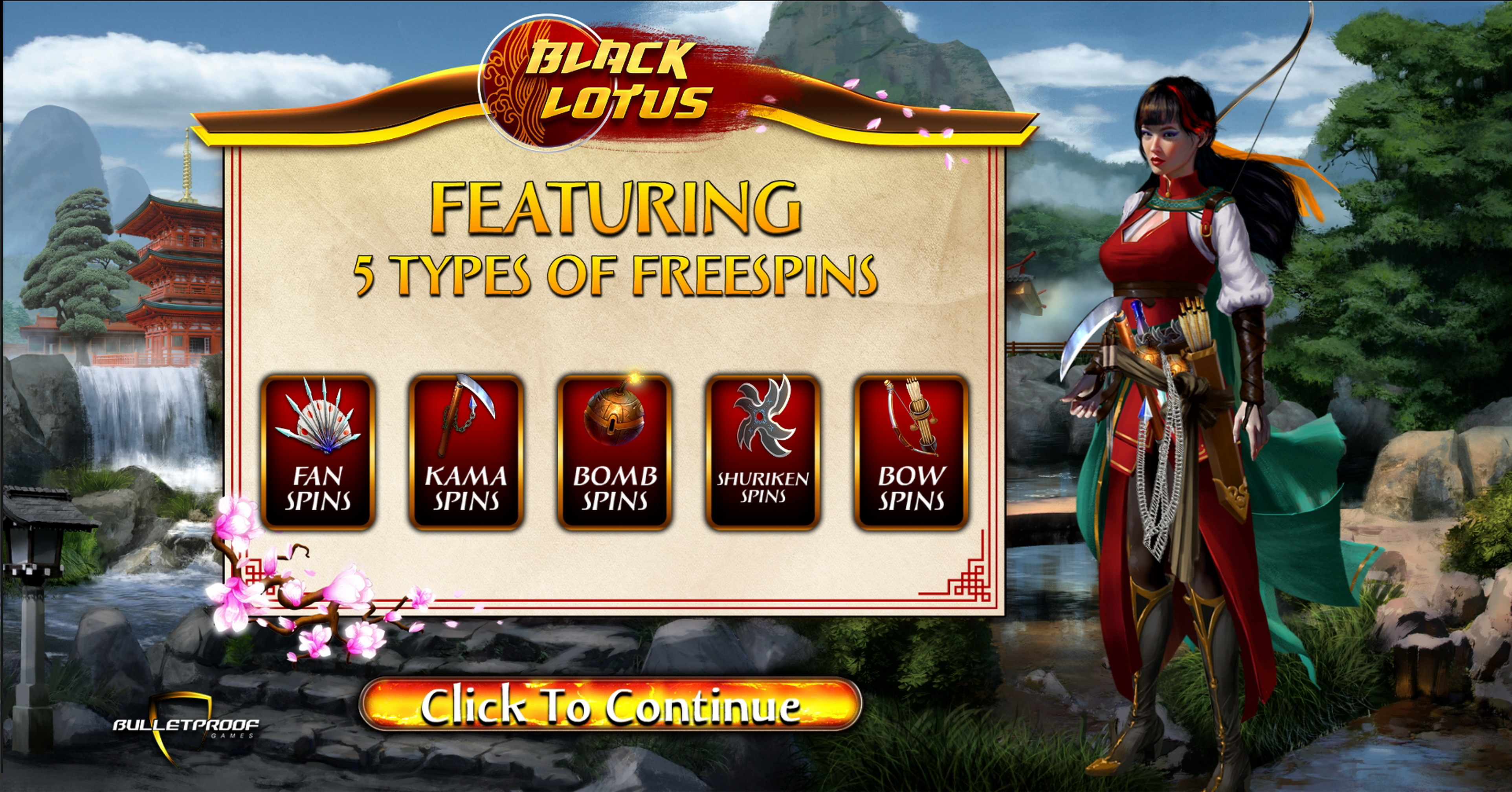 Play Black Lotus Free Casino Slot Game by Bulletproof Games
