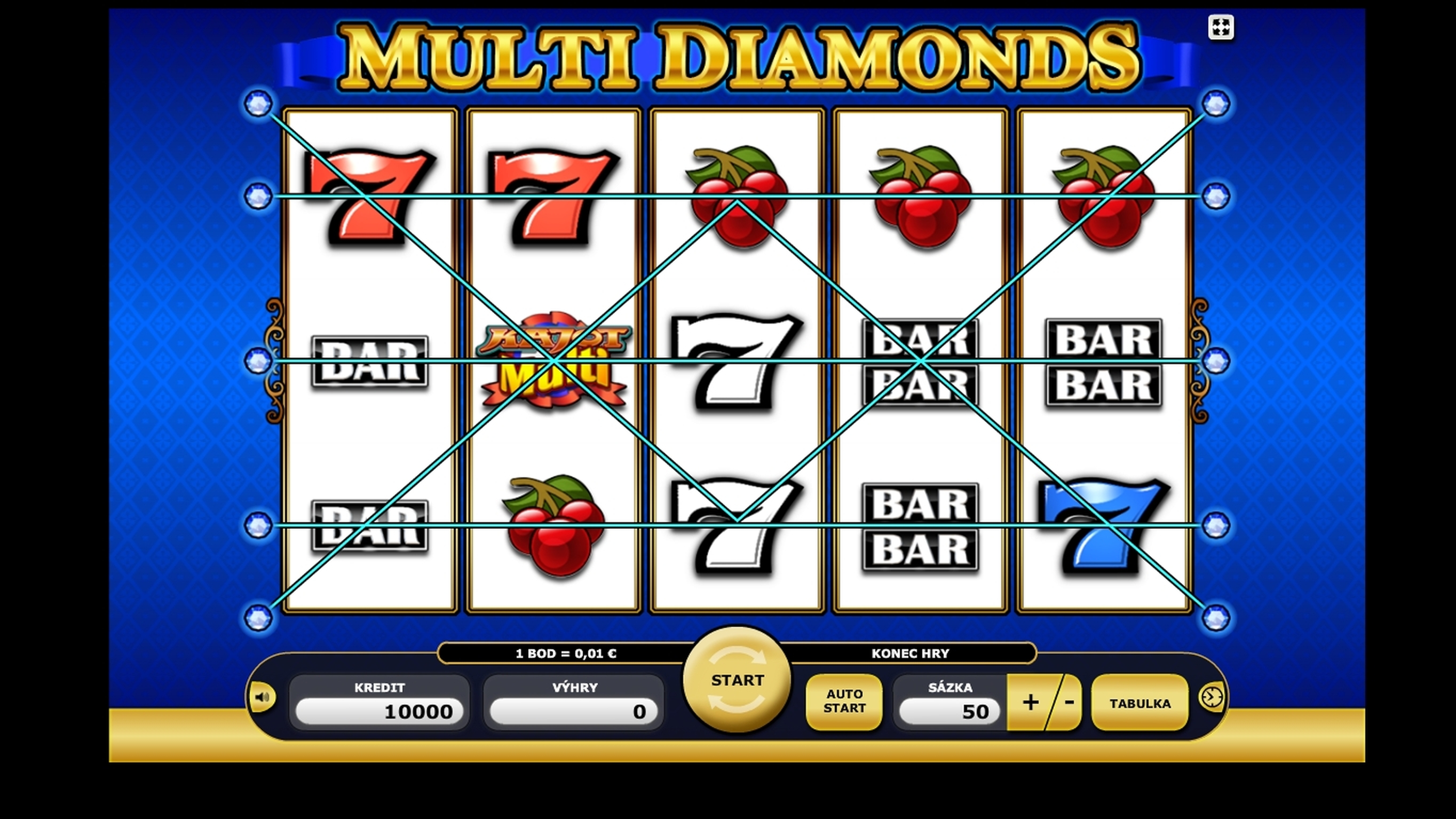 Reels in Multi Diamonds (Casino Technology) Slot Game by casino technology