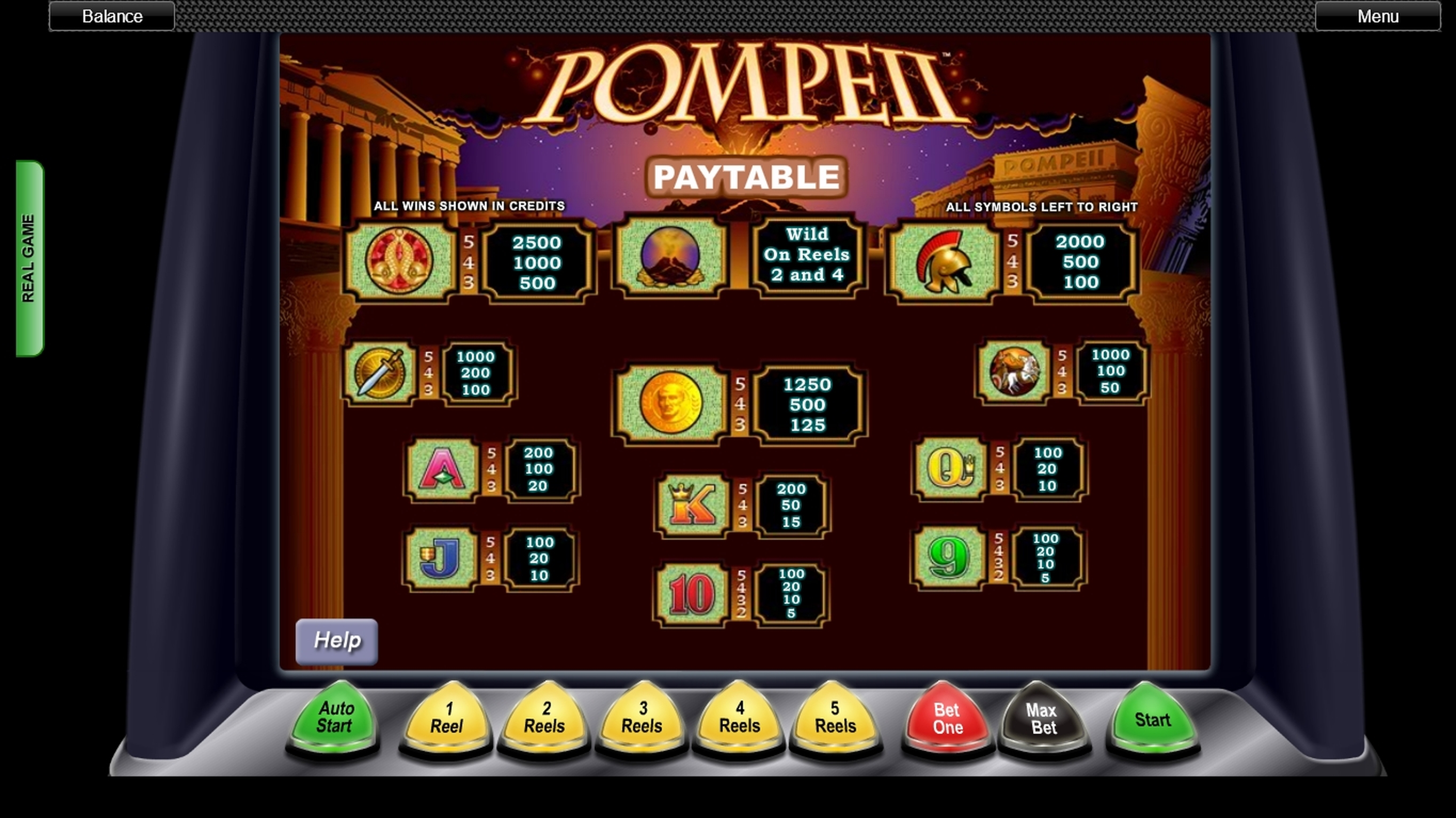 Info of Pompeii (Concept Gaming) Slot Game by Concept Gaming