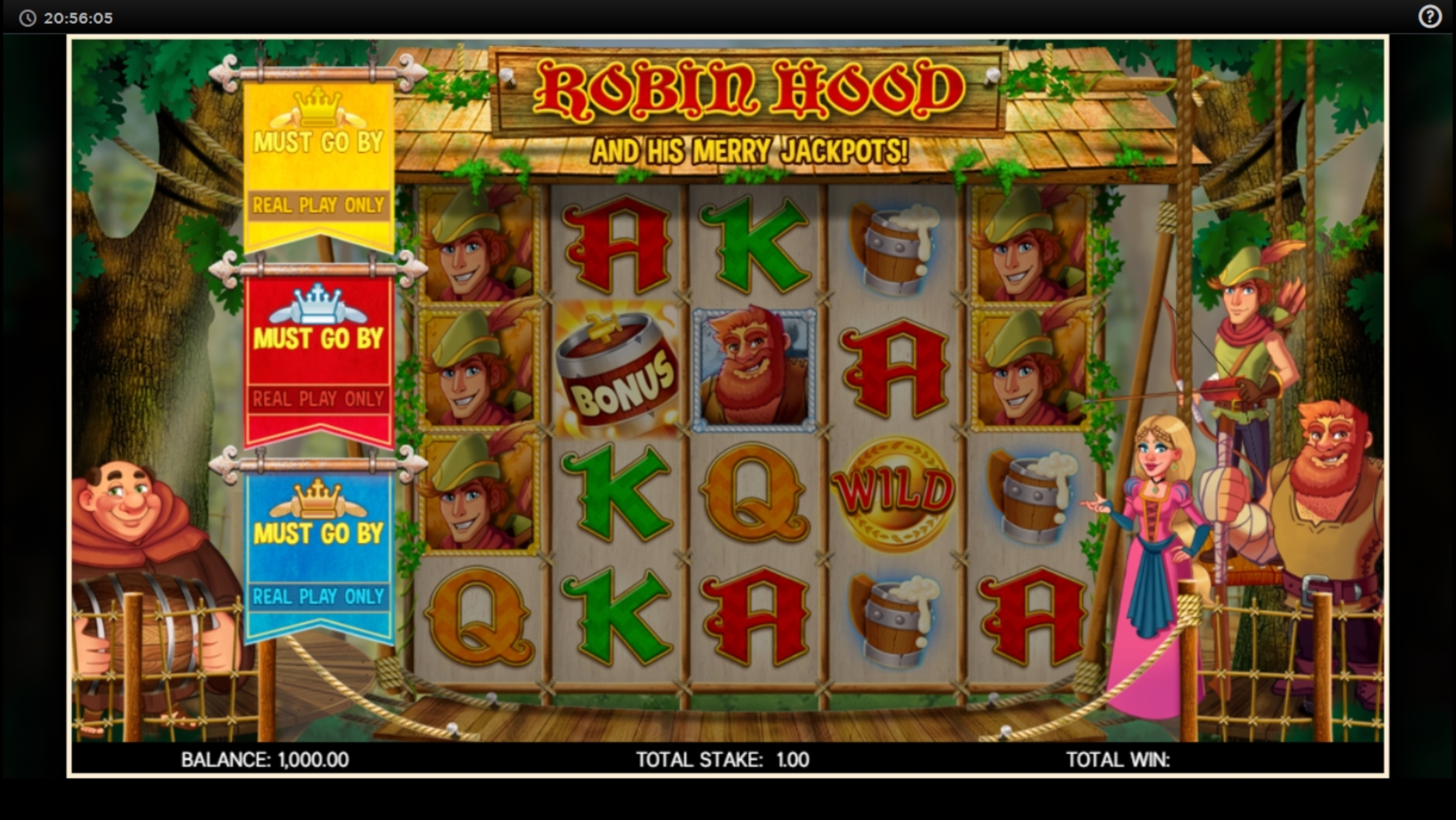 Reels in Robin Hood (CORE Gaming) Slot Game by CORE Gaming