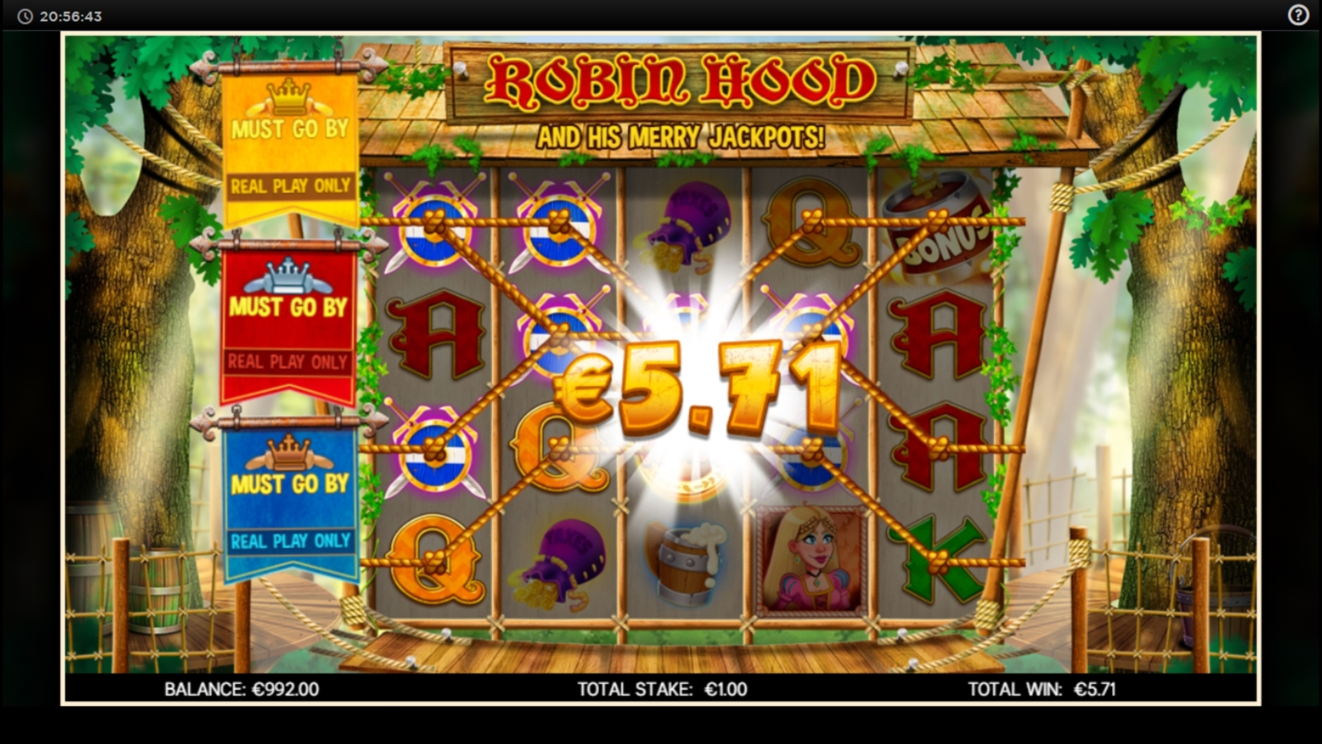 Win Money in Robin Hood (CORE Gaming) Free Slot Game by CORE Gaming