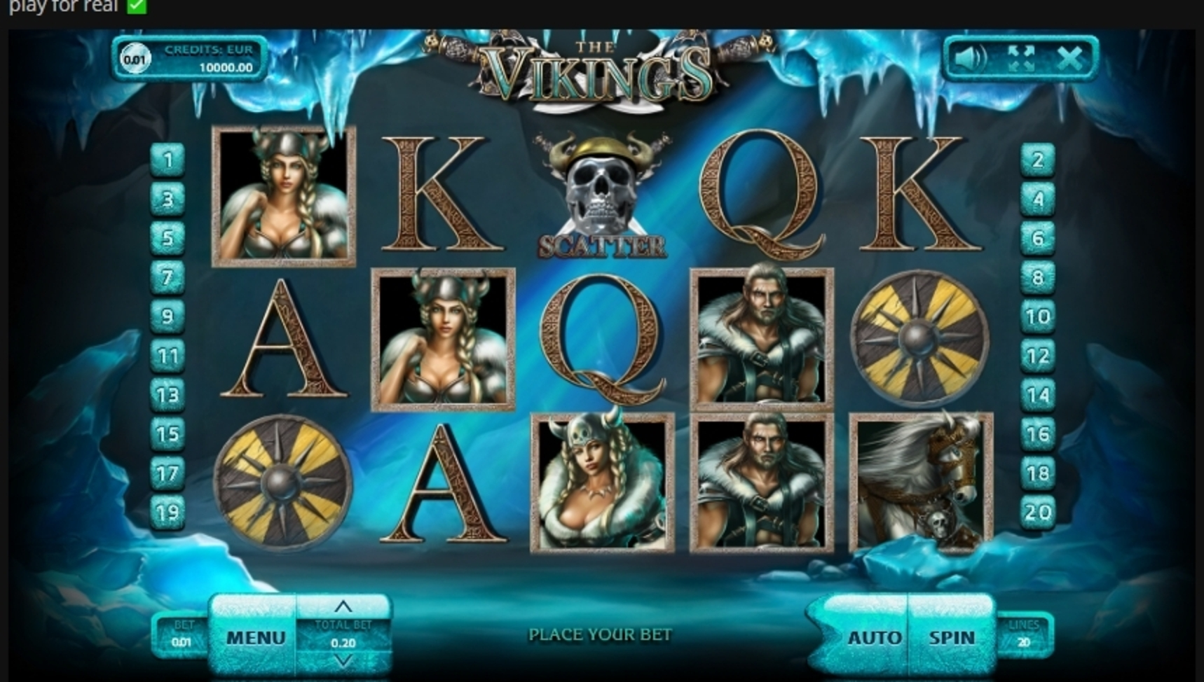 Reels in The Vikings (Endorphina) Slot Game by Endorphina