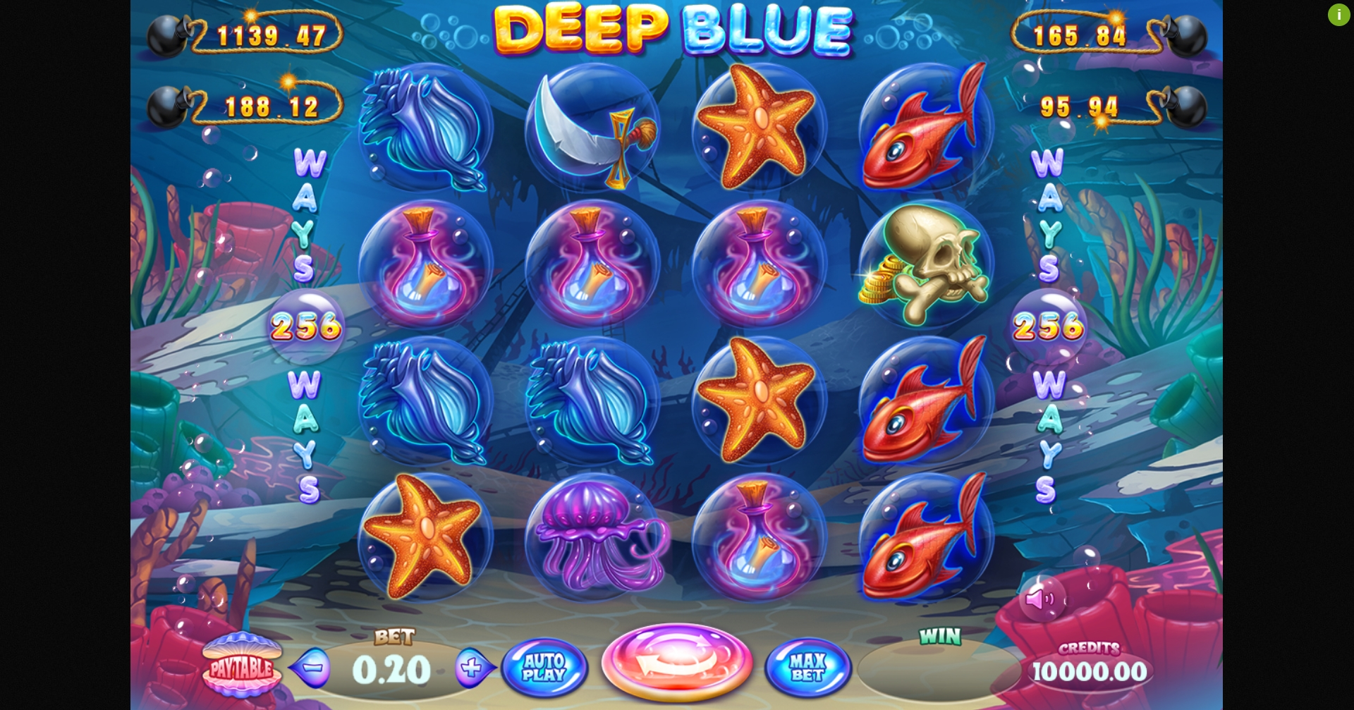 Reels in Deep Blue Jackbomb Slot Game by Felix Gaming